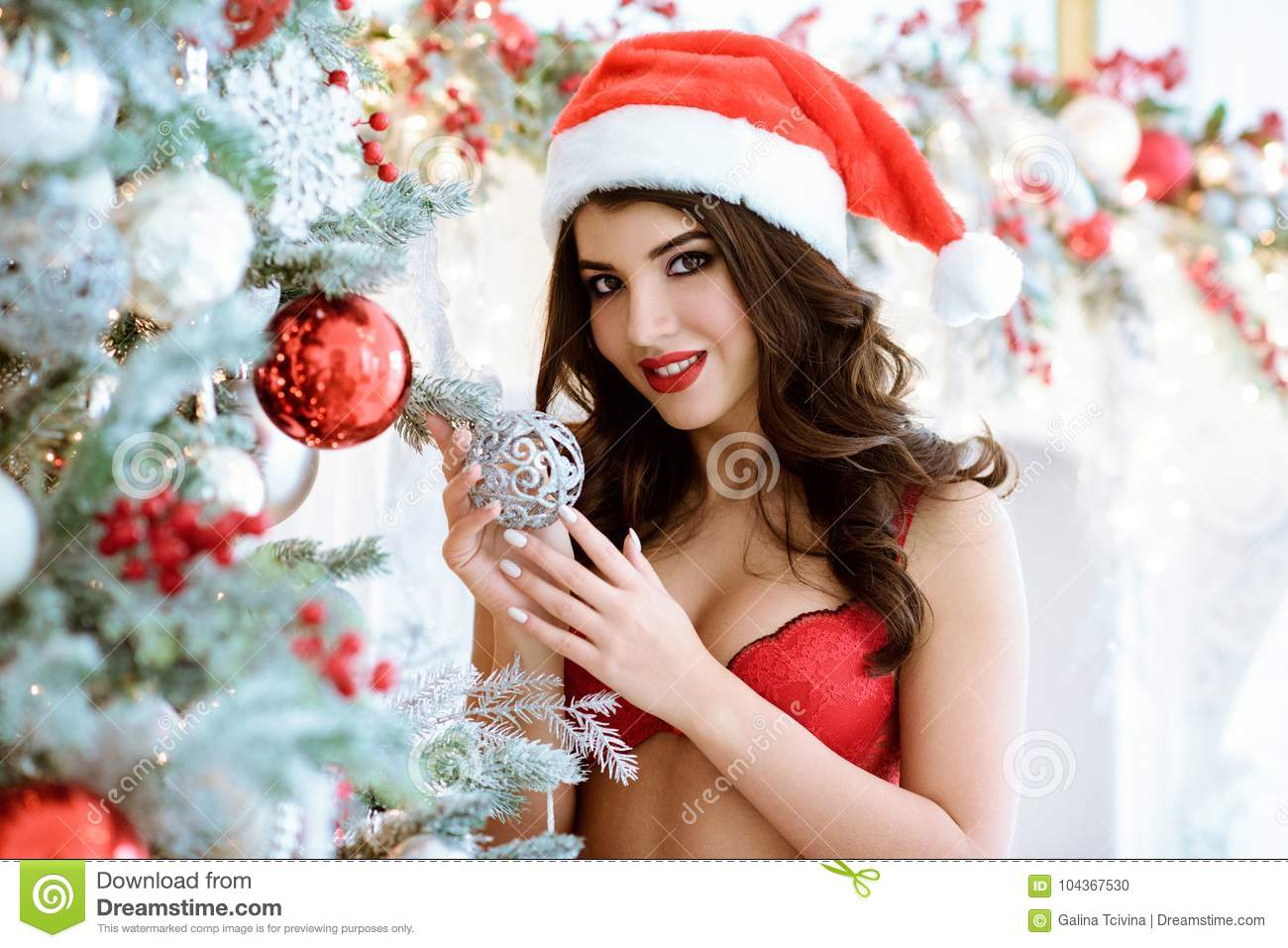 By christmas trees girls Nearly images naked