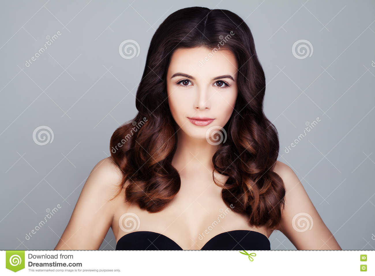 Beautiful Brunette Woman With Brown Hair Stock Photo Image Of