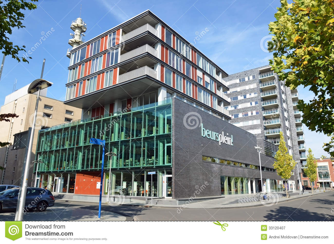beautiful building in hengelo holland royalty free stock photography beautiful office building