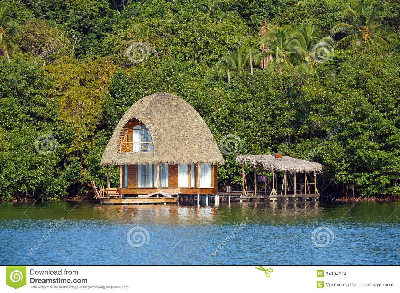 Beautiful Bungalow Over The Sea Stock Images Image 34194924