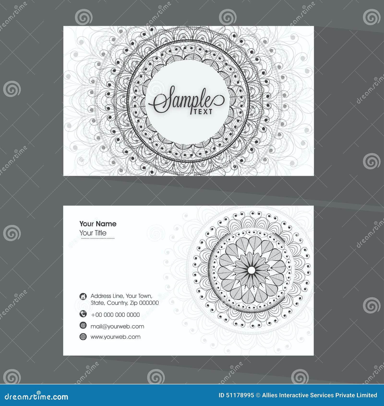 beautiful business card design stock illustration  image: 51178995