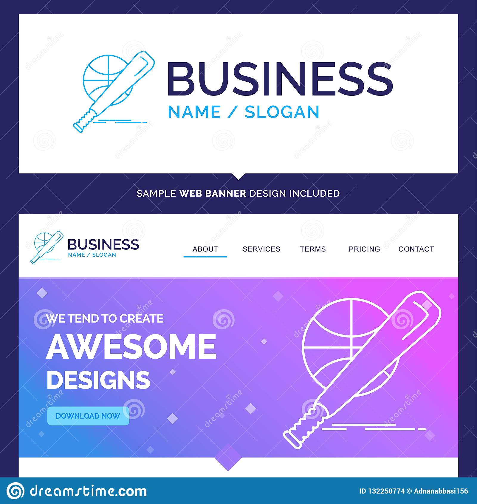 Beautiful Business Concept Brand Name baseball, basket, ball, ga