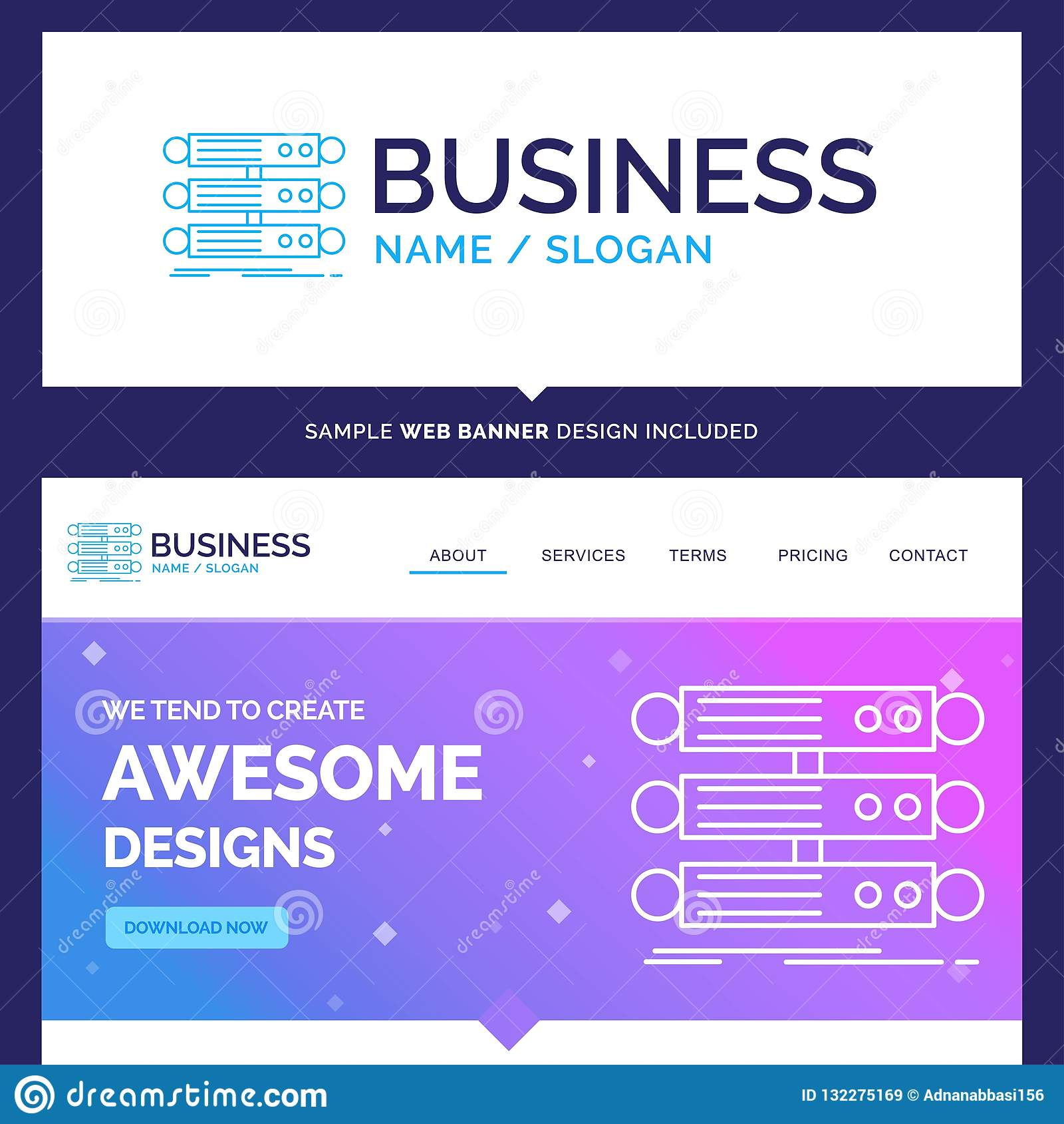 Beautiful Business Concept Brand Name Server, Structure