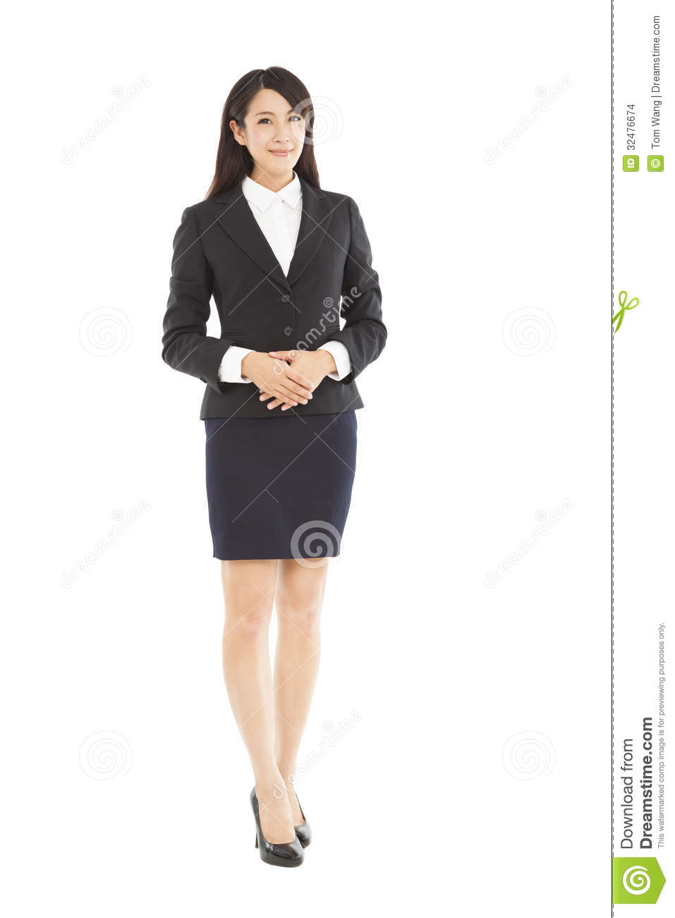 beautiful business woman standing stock images   image