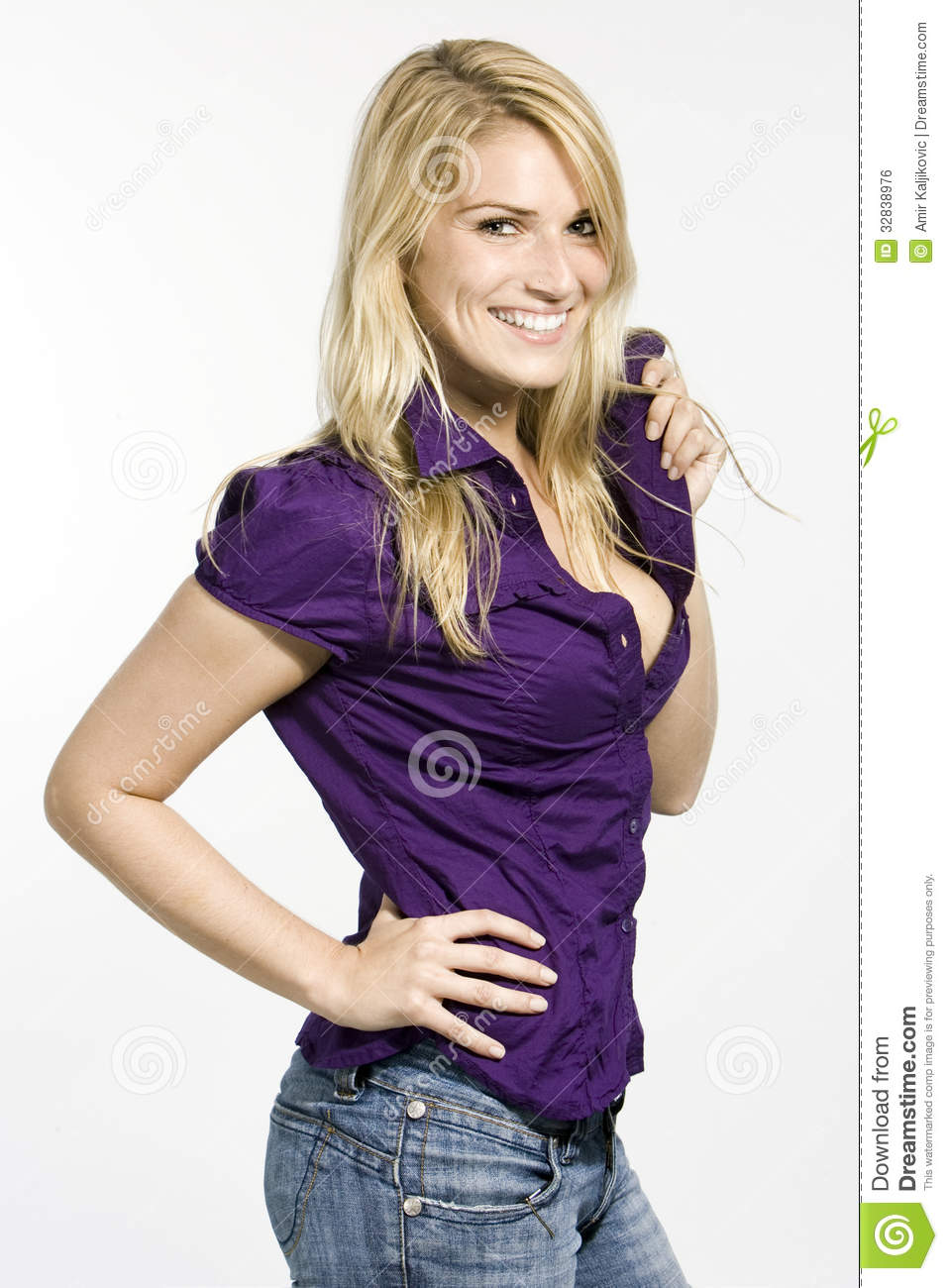 Beautiful Busty Woman Stock Photo Image Of Portrait - 32838976-6519