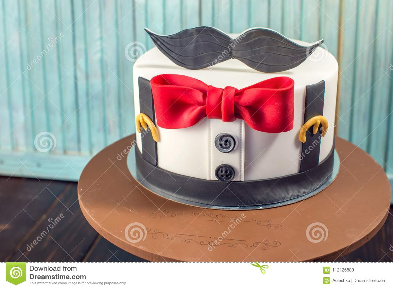 Fine Beautiful Cake For Men Decorated In The Form Of A Suit With A Bow Funny Birthday Cards Online Hendilapandamsfinfo