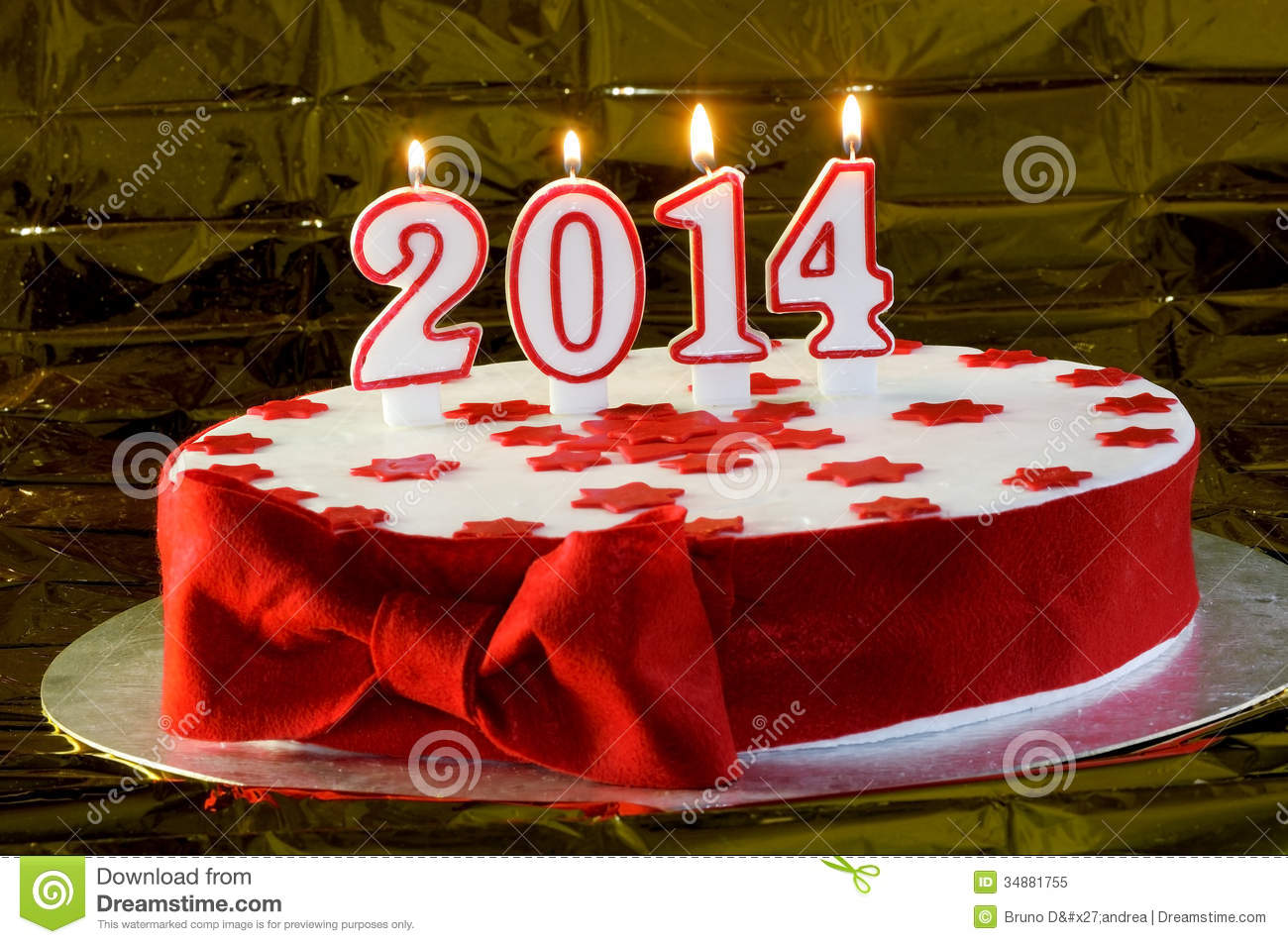 Beautiful Cake For The New Year Stock Image - Image: 34881755