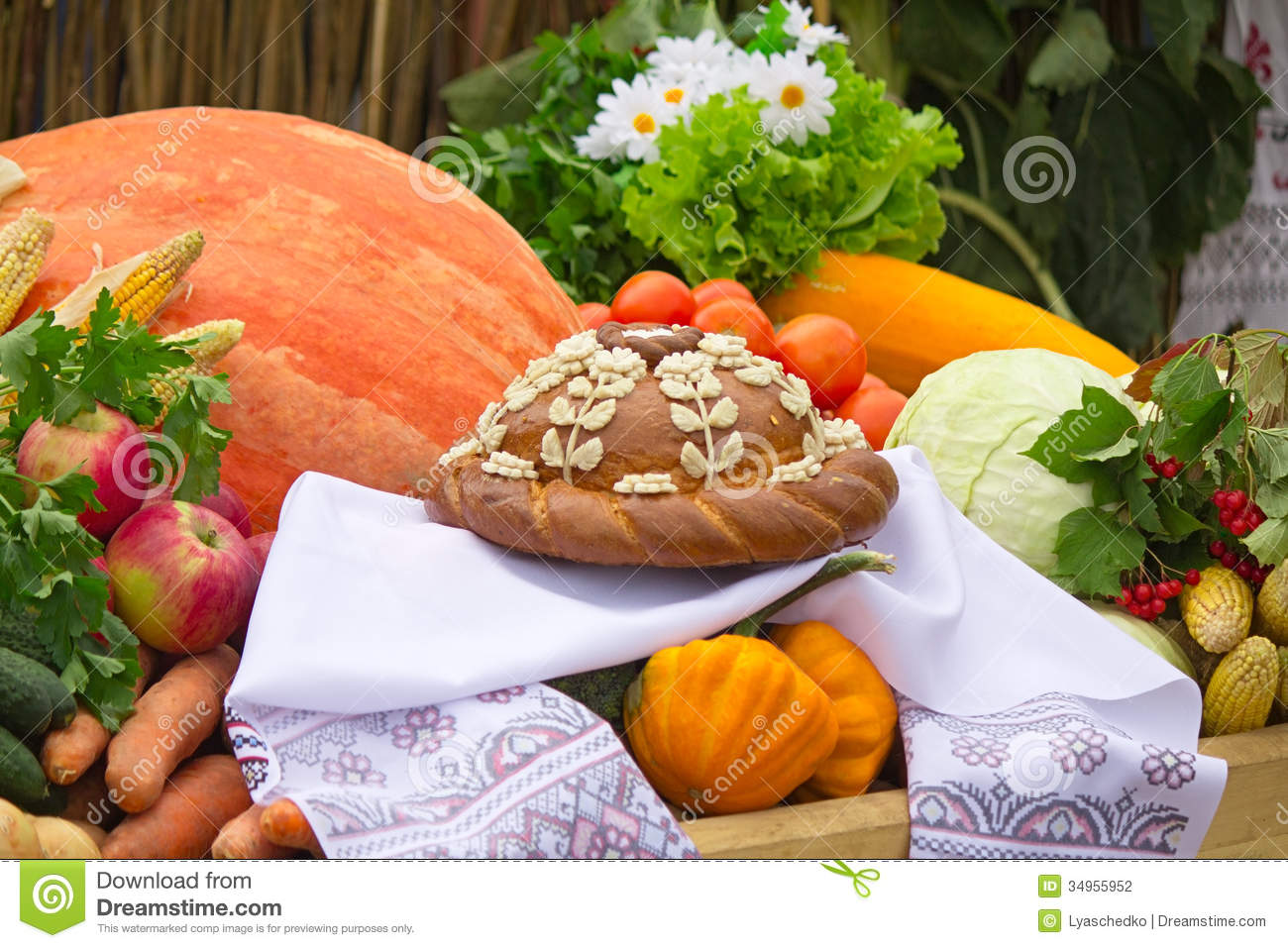 Beautiful cake on a white towel vegetables fruits stock for Beautiful vegetables