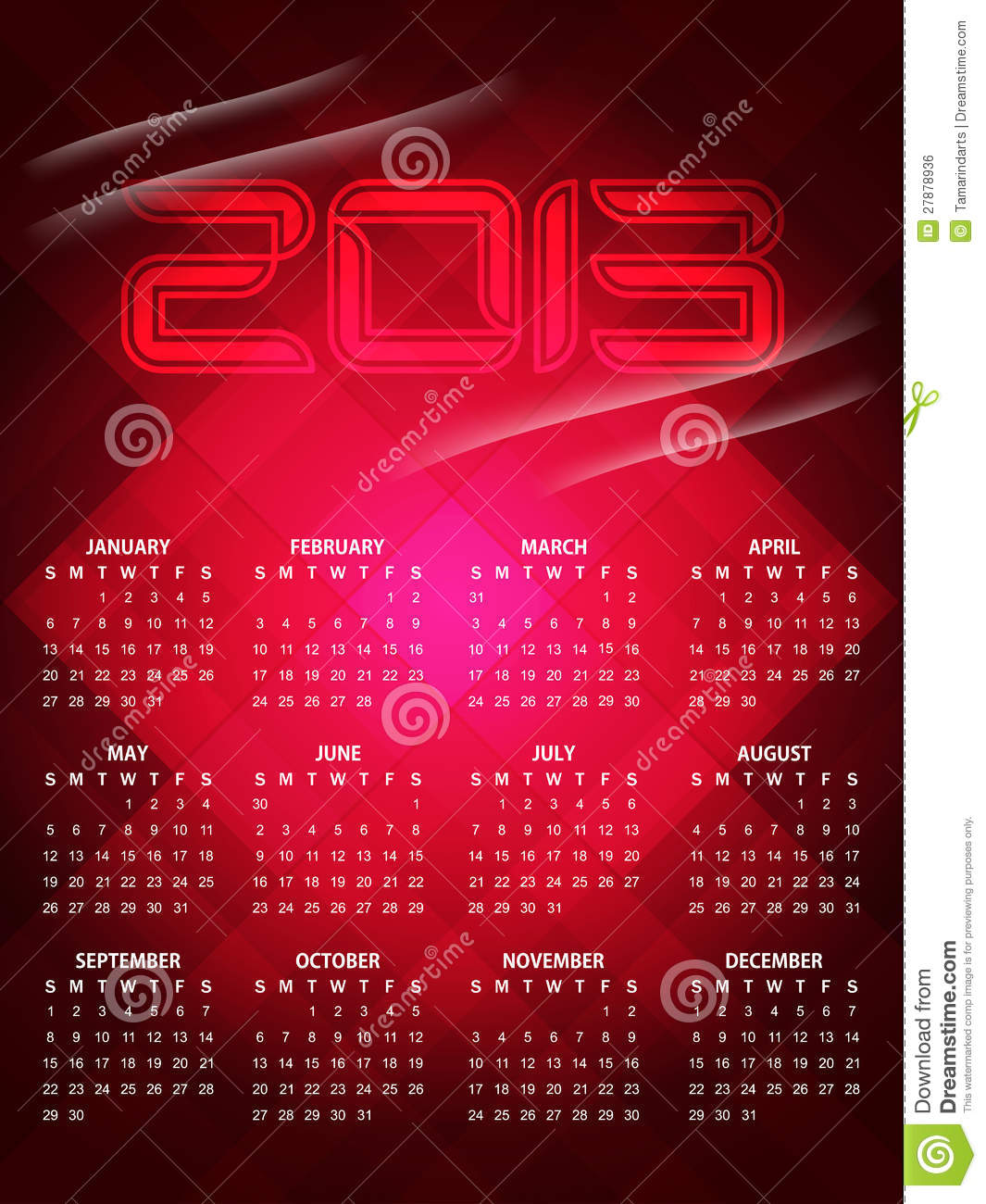 Beautiful Calendar Design : Beautiful calendar design for royalty free stock
