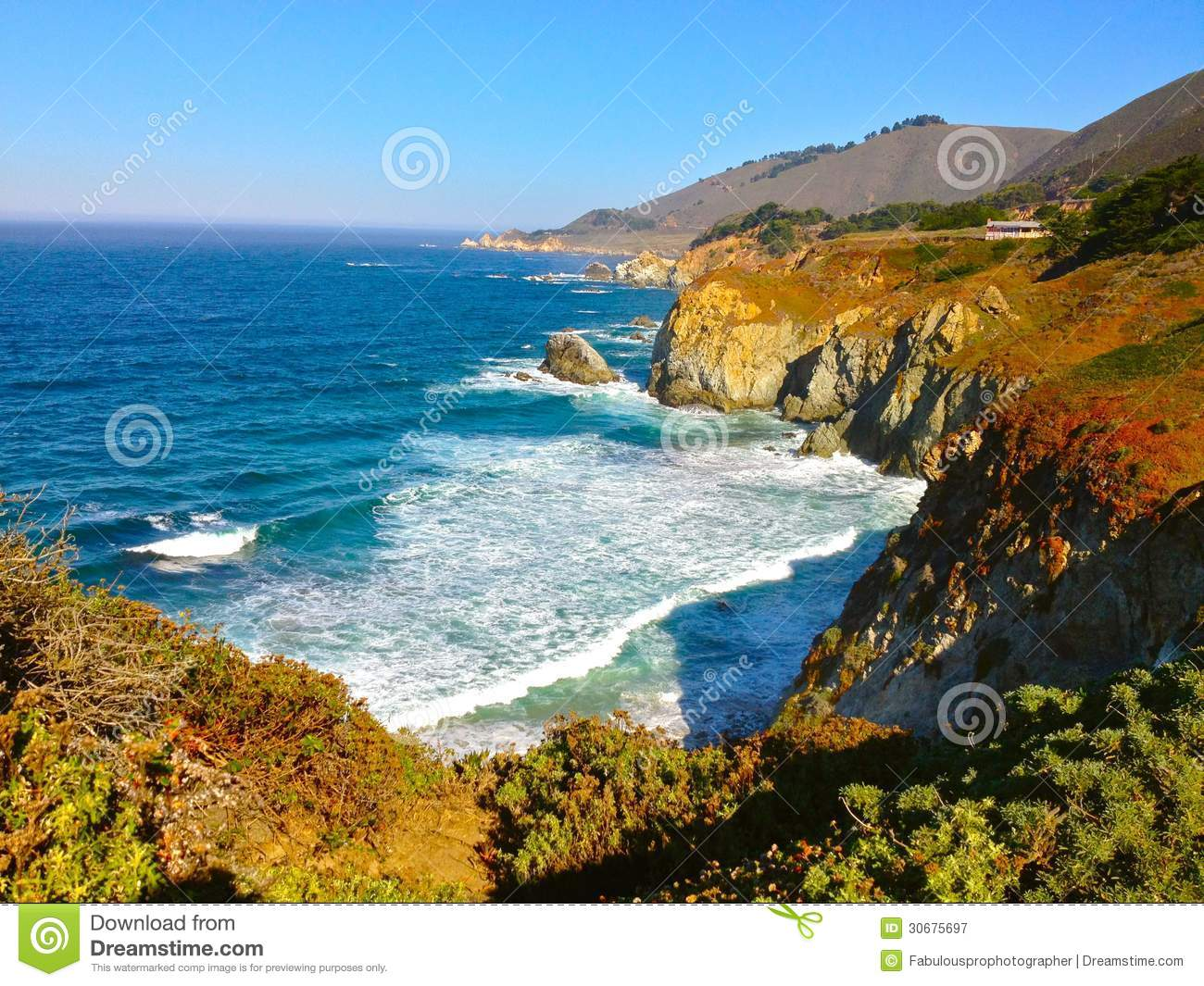 The beautiful california coast royalty free stock for Beautiful pictures