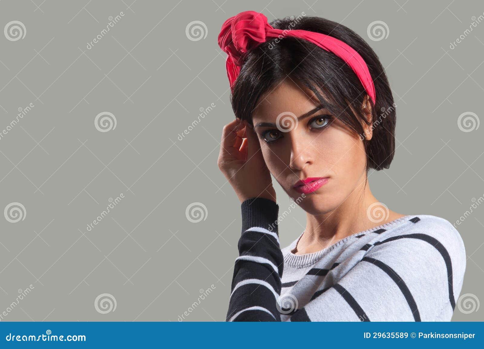 Beautiful Girl with Hair Band