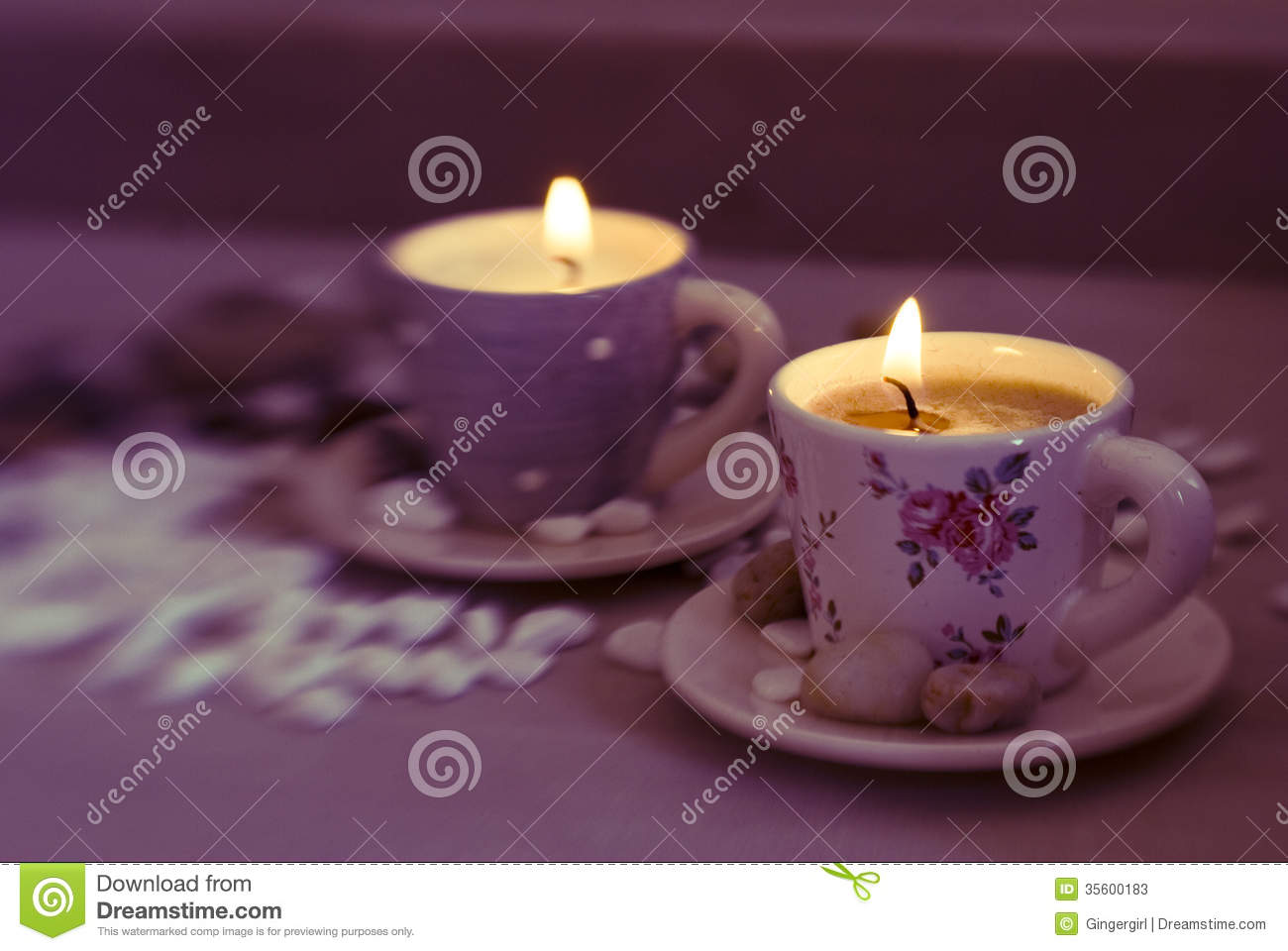 Beautiful Candles Stock Photos Image 35600183