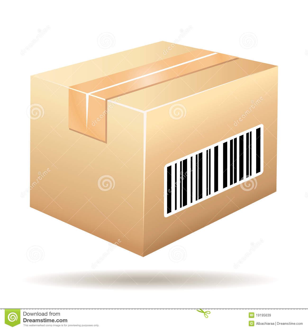 Beautiful Cardboard Icon With Tracking Barc Royalty Free Stock Images ...