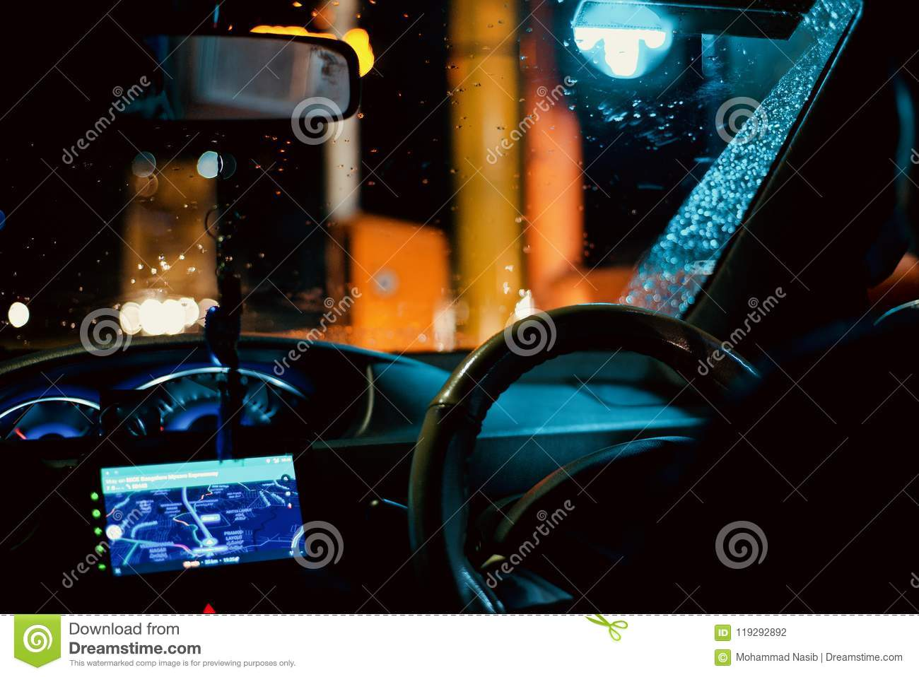 Download Beautiful Cars Interior Object At Night Unique Photo Stock Photo - Image of royalty, idea: 119292892