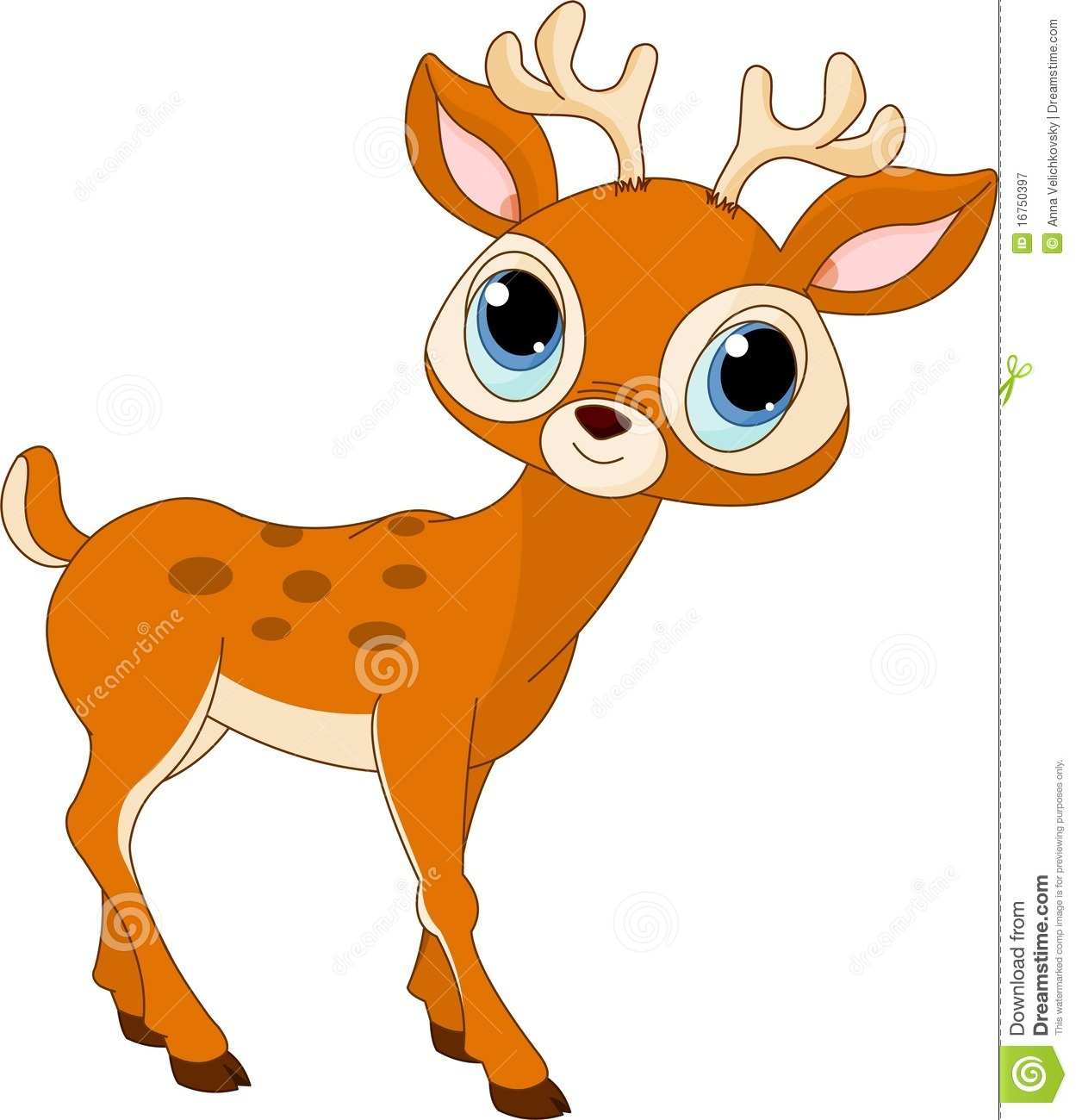 Beautiful Cartoon Deer Royalty Free Stock Photography - Image ...