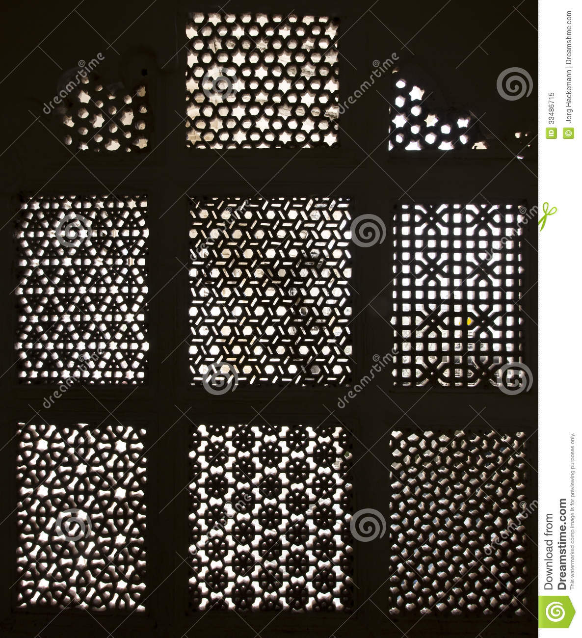Beautiful carved window with oriental decor royalty free for Decoration orientale