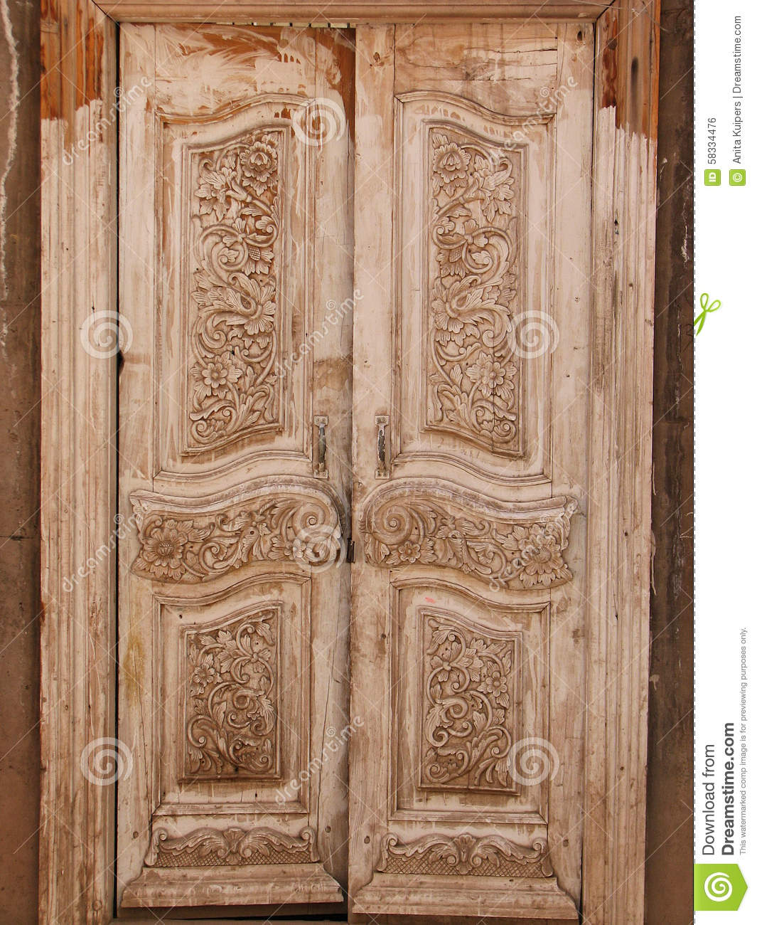 Carved doors stock photography 37158242 for Beautiful wooden doors picture collection