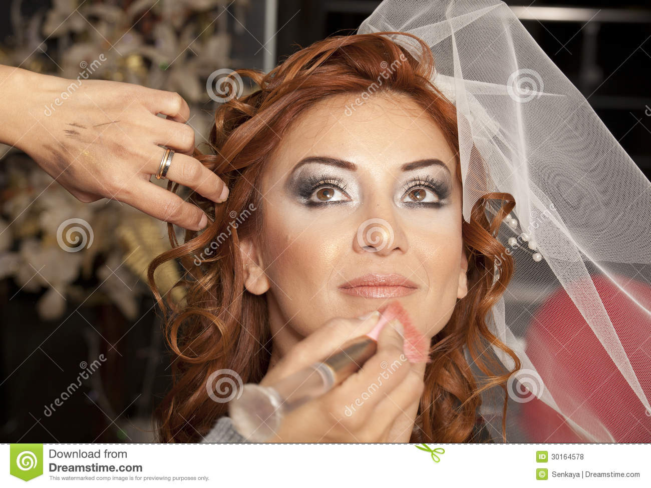 Will young beautiful bride preparing mistaken