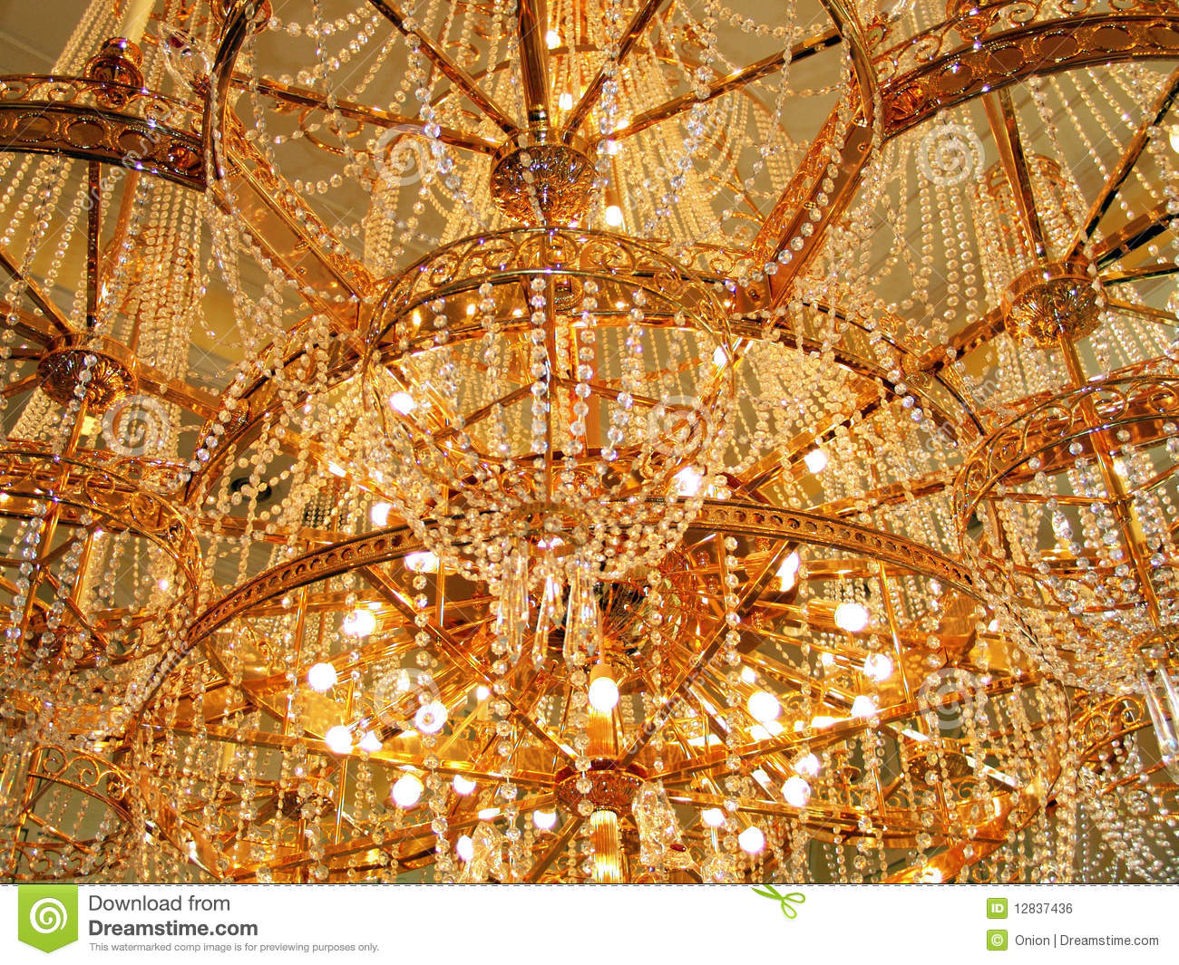 Beautiful Ancient Chandelier Stock Photo Cartoondealer