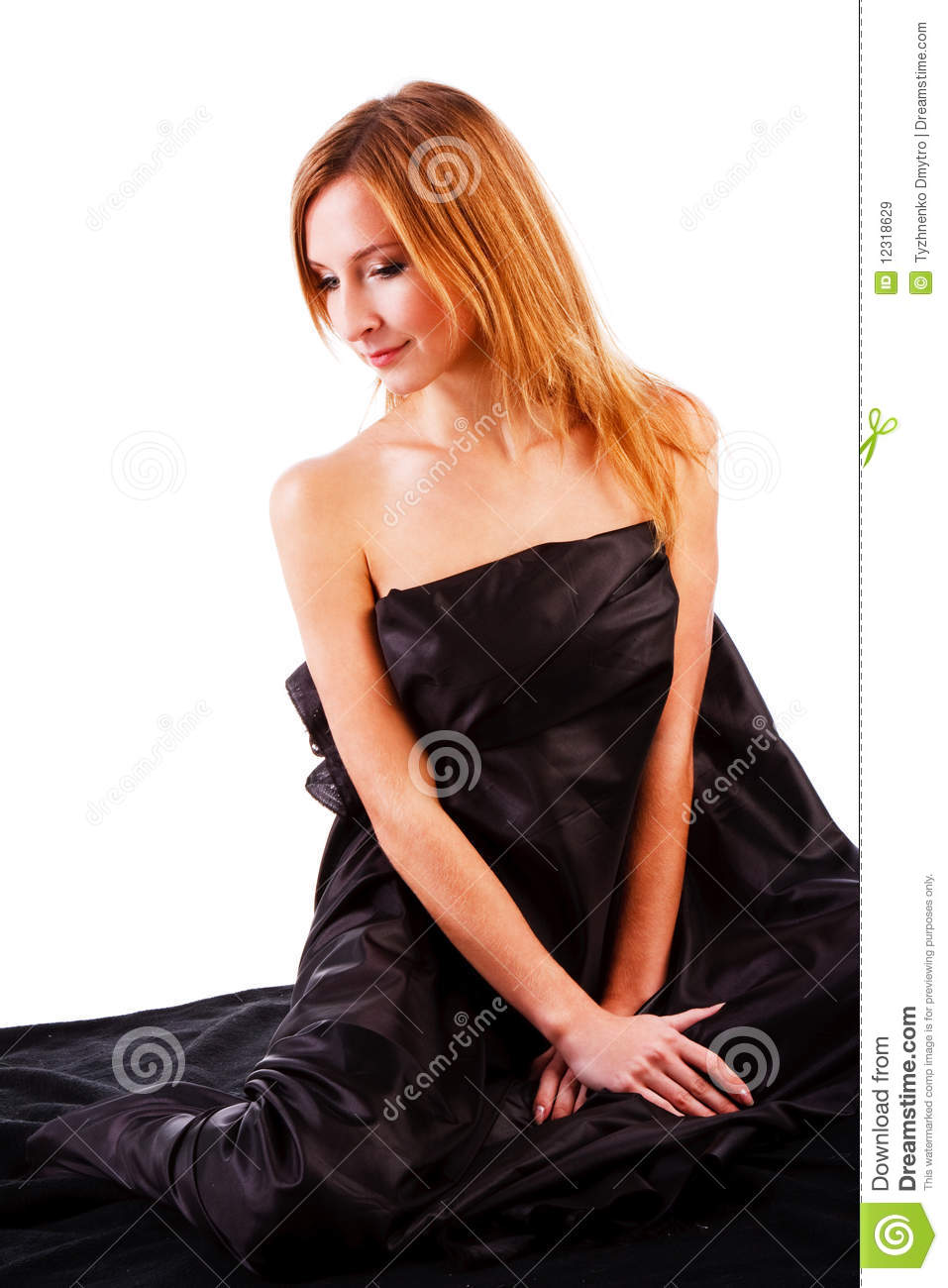 Beautiful Charming Young Girl On Bed Royalty Free Stock Images Image 12318629