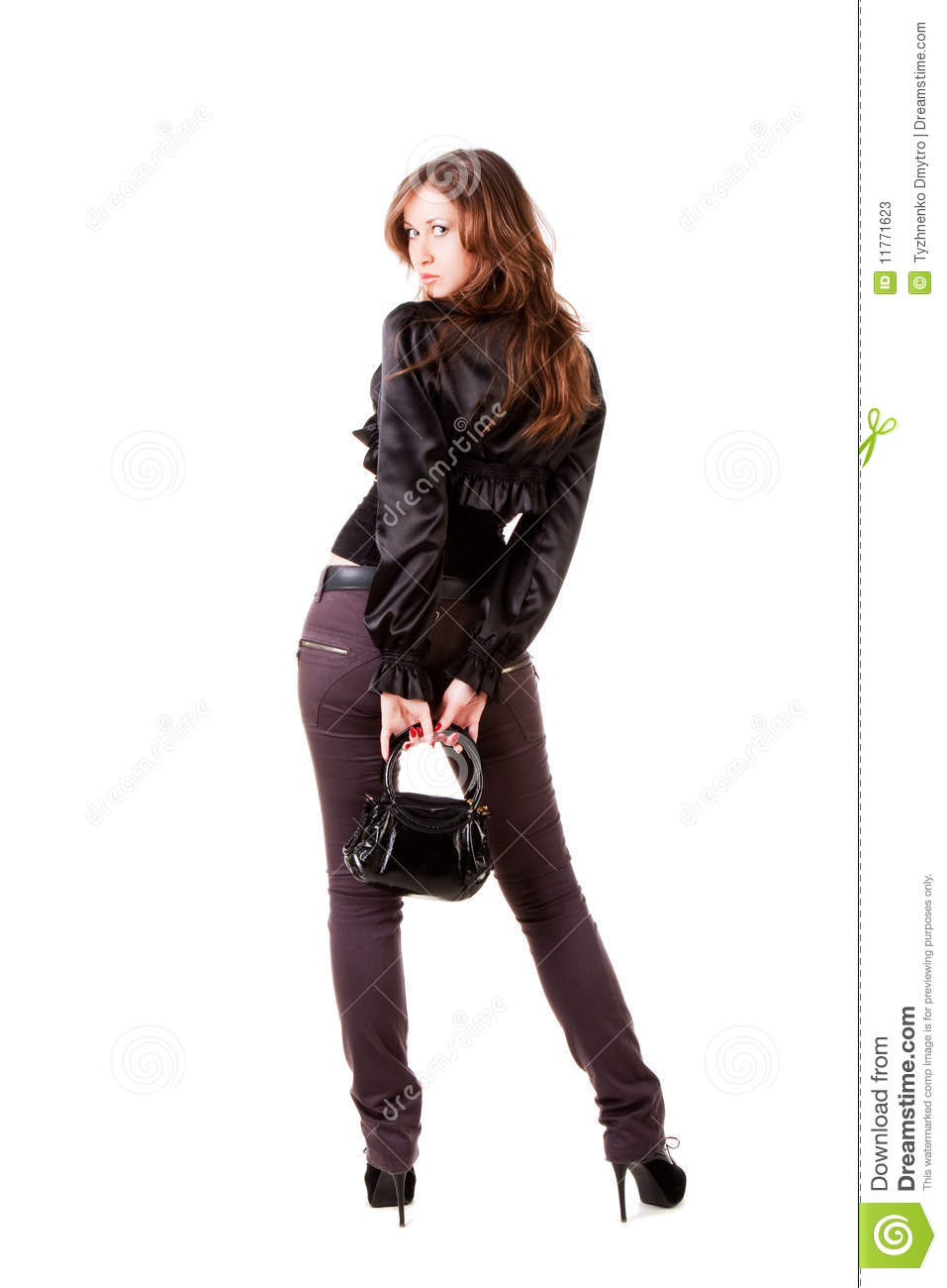 Beautiful charming young girl in black stock photos image 11771623 - Charming teenage girls image ...