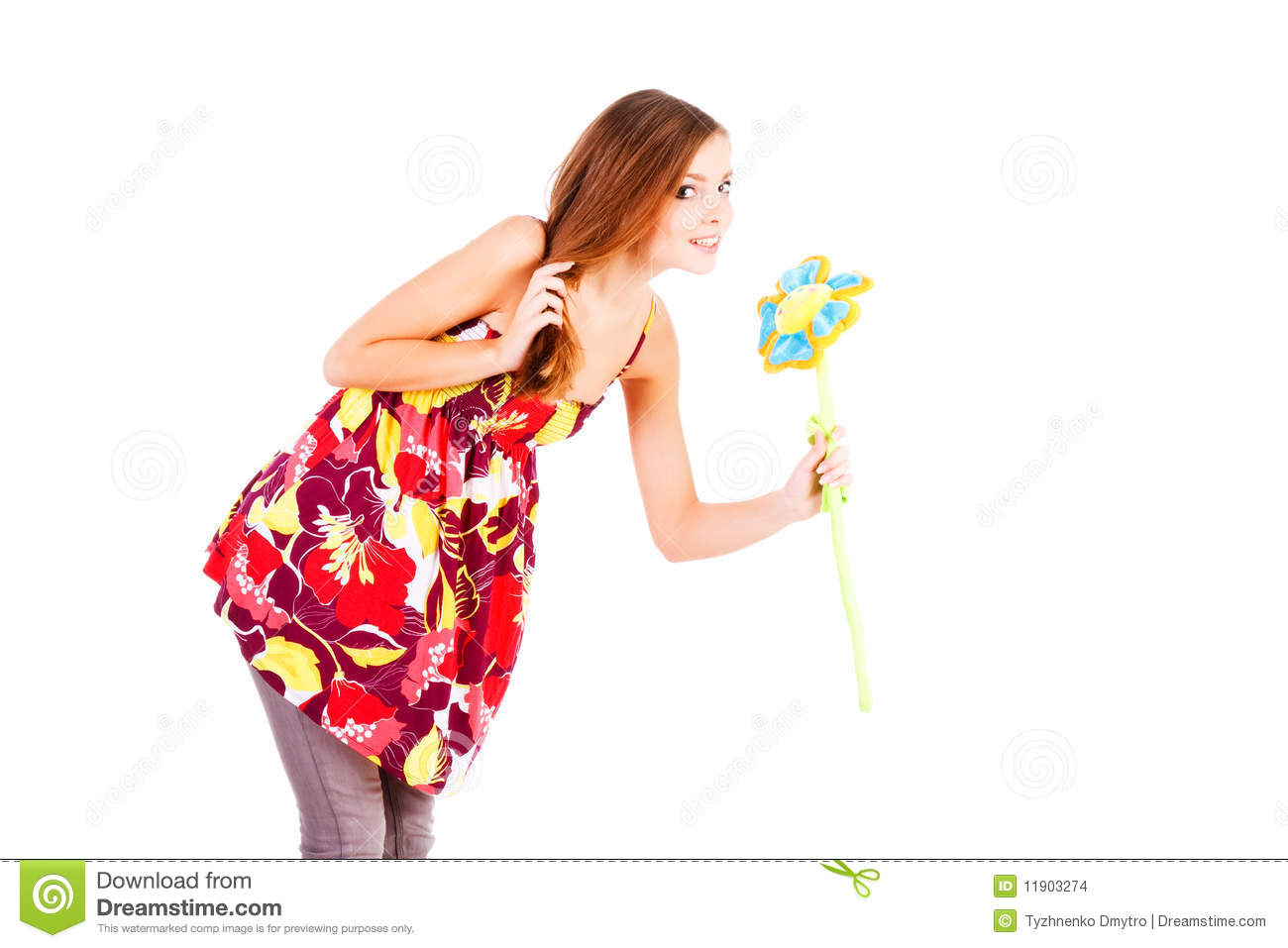 Beautiful charming young girl with flower stock images image 11903274 - Charming teenage girls image ...