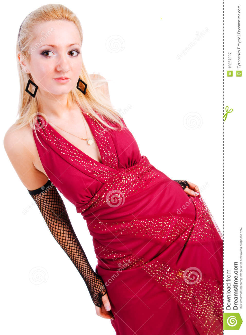 Beautiful charming young girl in red dress royalty free stock photography image 12867997 - Charming teenage girls image ...