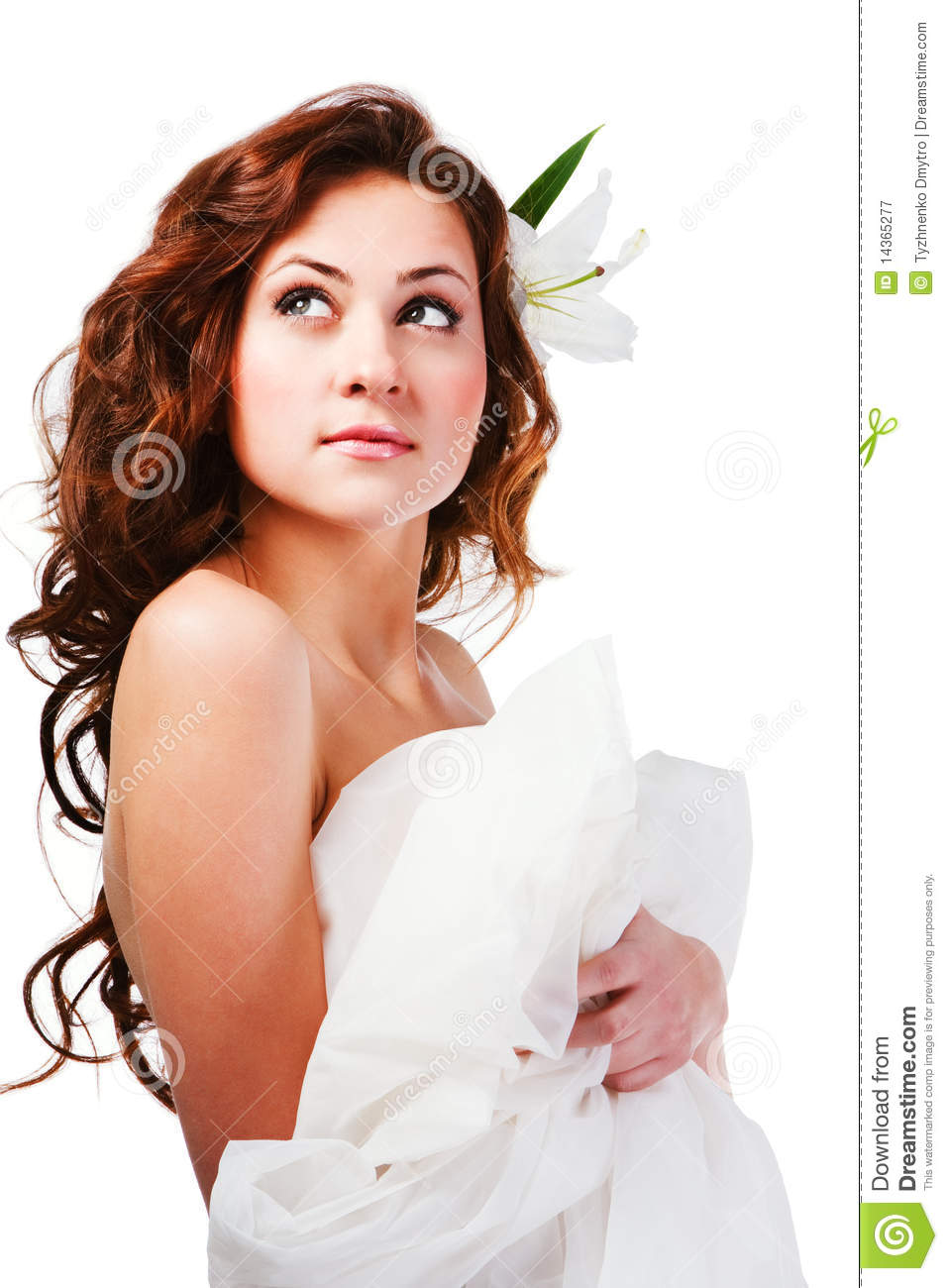 Beautiful charming young girl in white royalty free stock photography image 14365277 - Charming teenage girls image ...