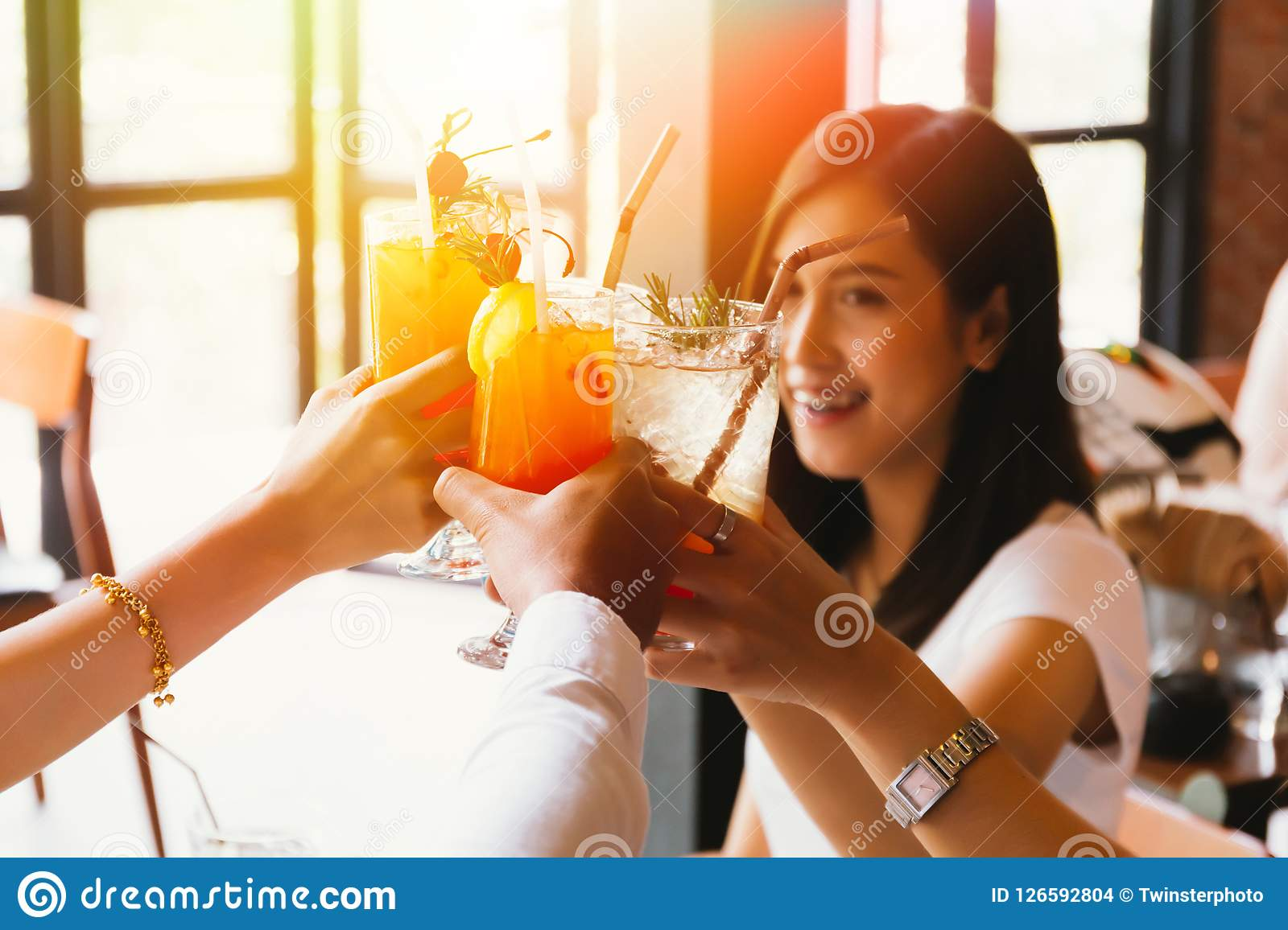 Will refrain toasts cheers asian woman asian consider
