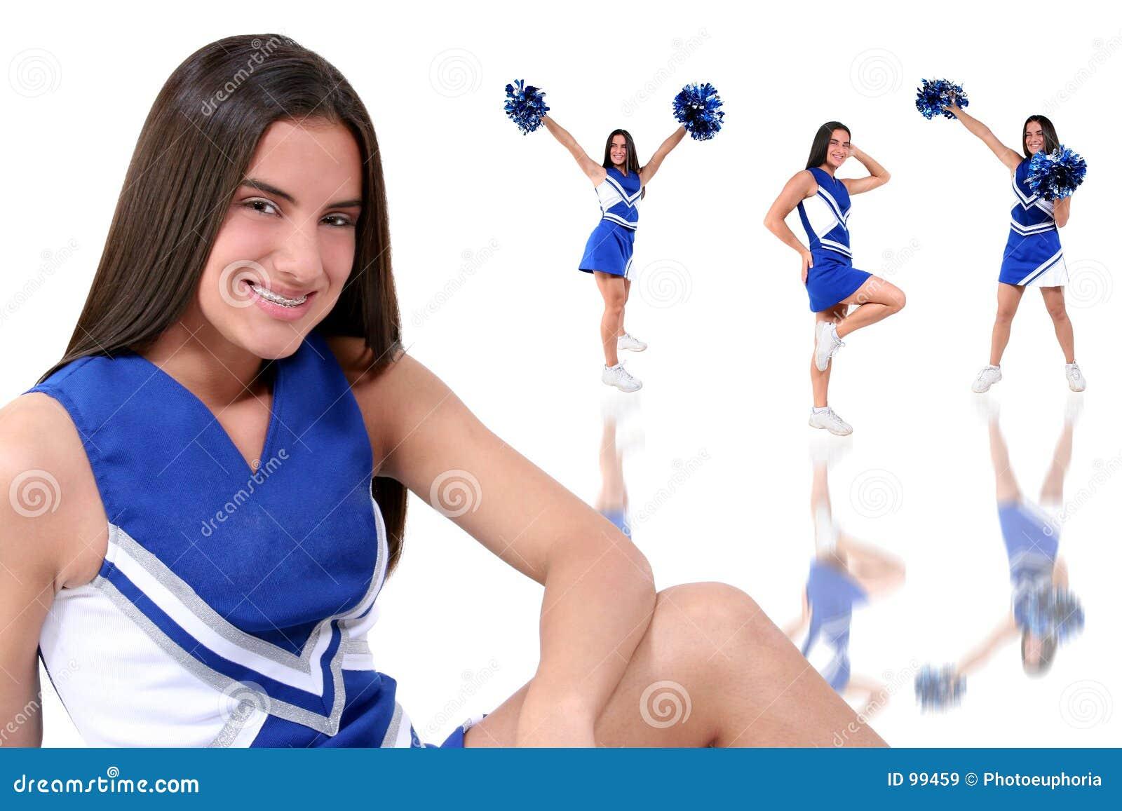 Similar teen girl cheerleaders
