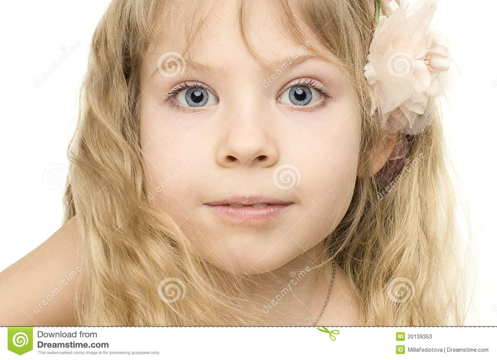 Girls face close up