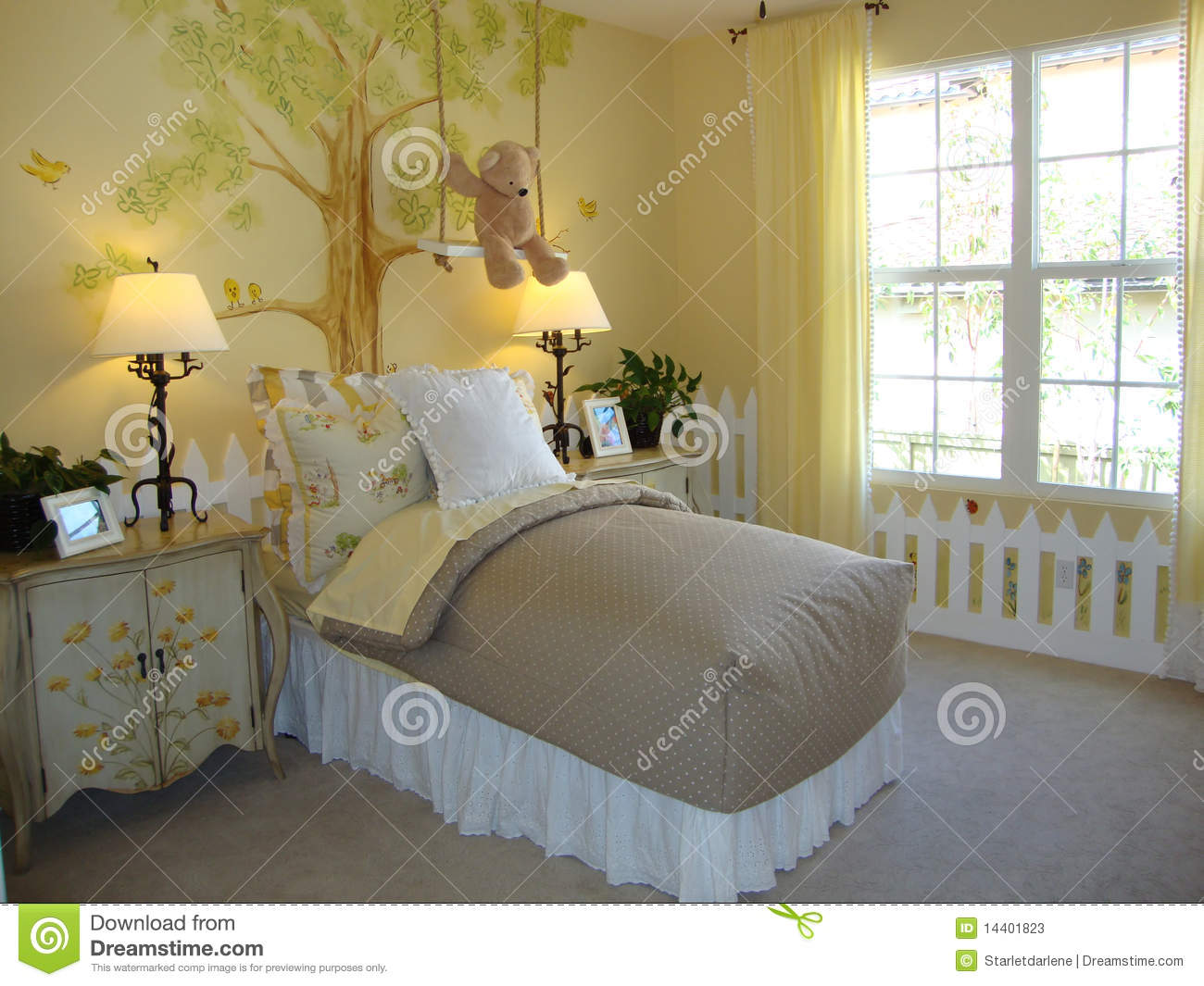 beautiful childs bedroom stock photos - image: 14401823