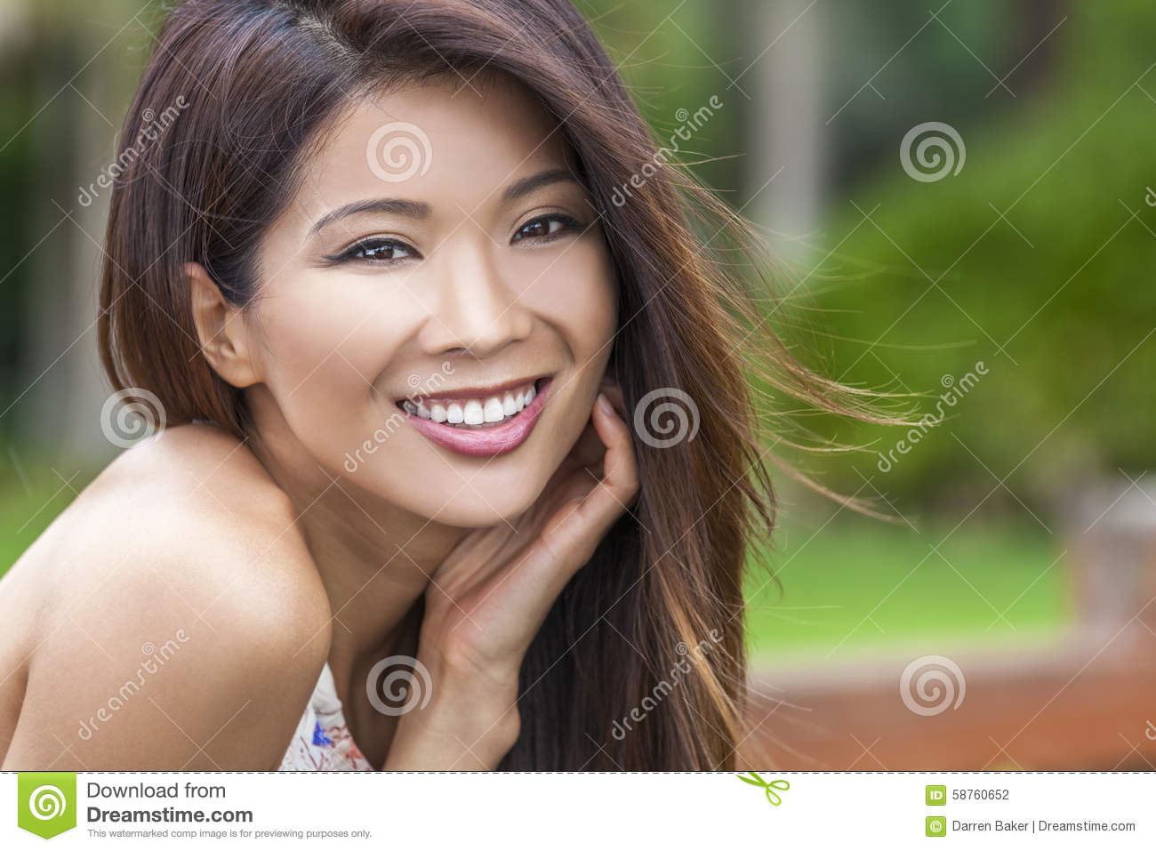 Beautiful Chinese Asian Young Woman Girl Stock Photo -6869