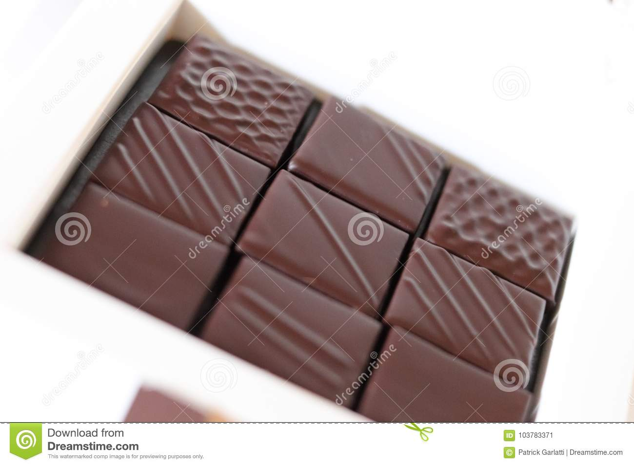 Beautiful Chocolate Box Stock Image Image Of Platter 103783371