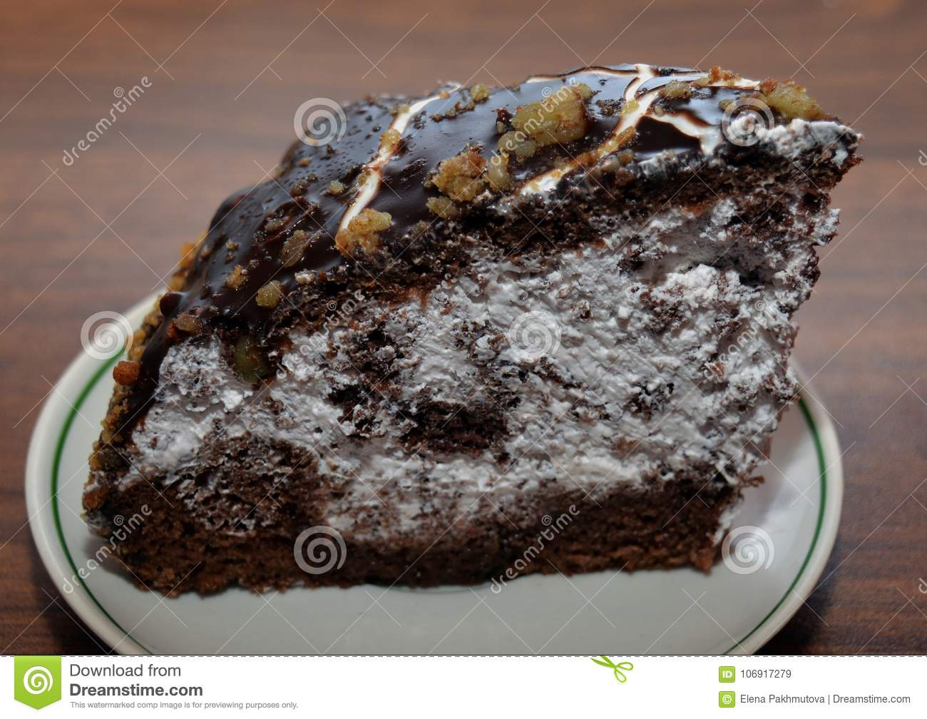 Cake Chocolate Dessert Food Sweet Plate Delicious Brown