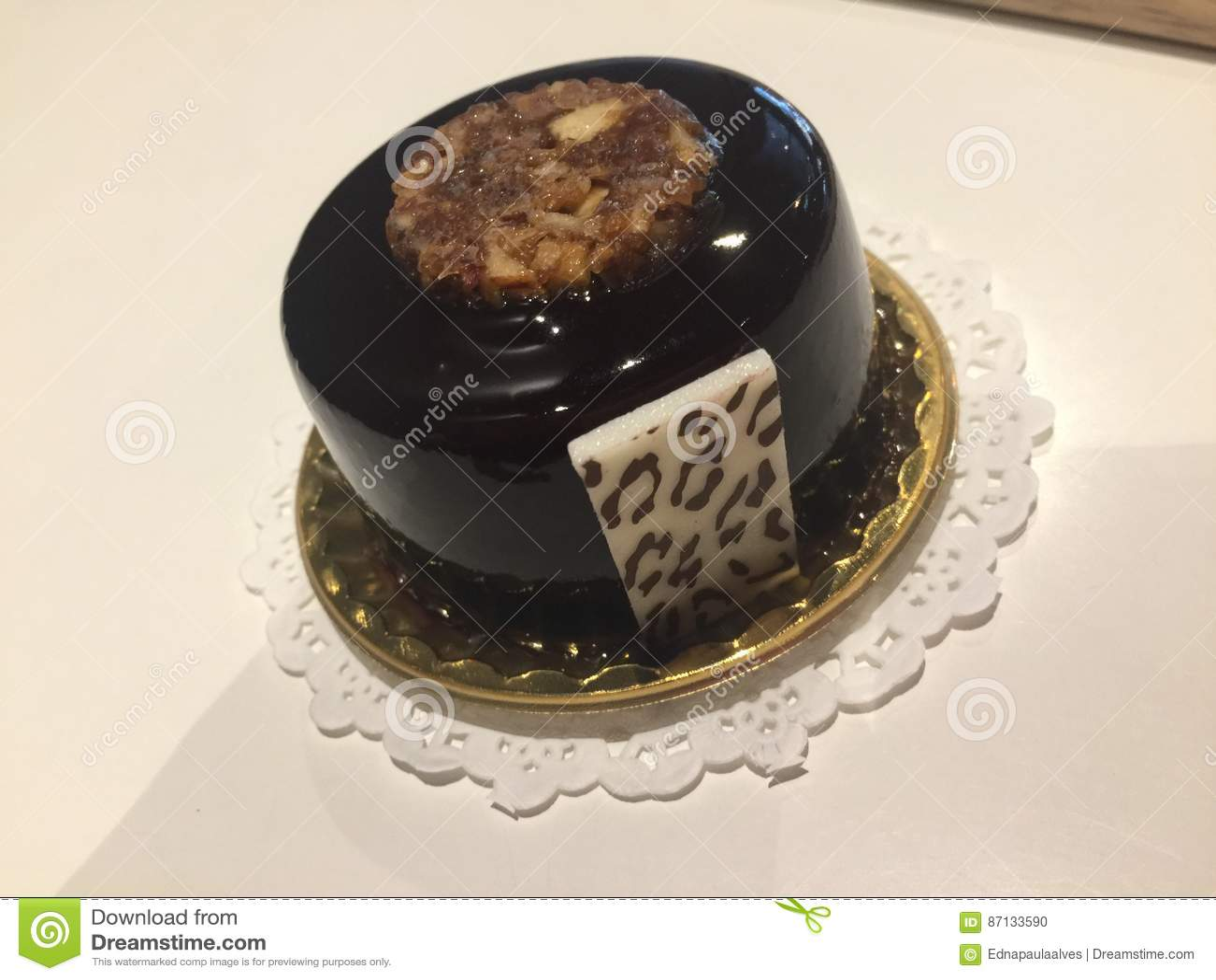 Beautiful Chocolate Small Cake Stock Photo Image Of Cake Small