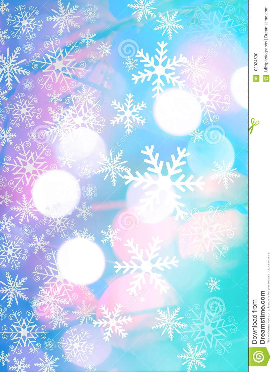 Beautiful Christmas Background.Beautiful Christmas Background With Bokeh Lights And