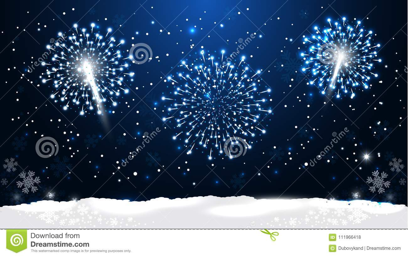 new year night is time for dreams coming true vector illustration