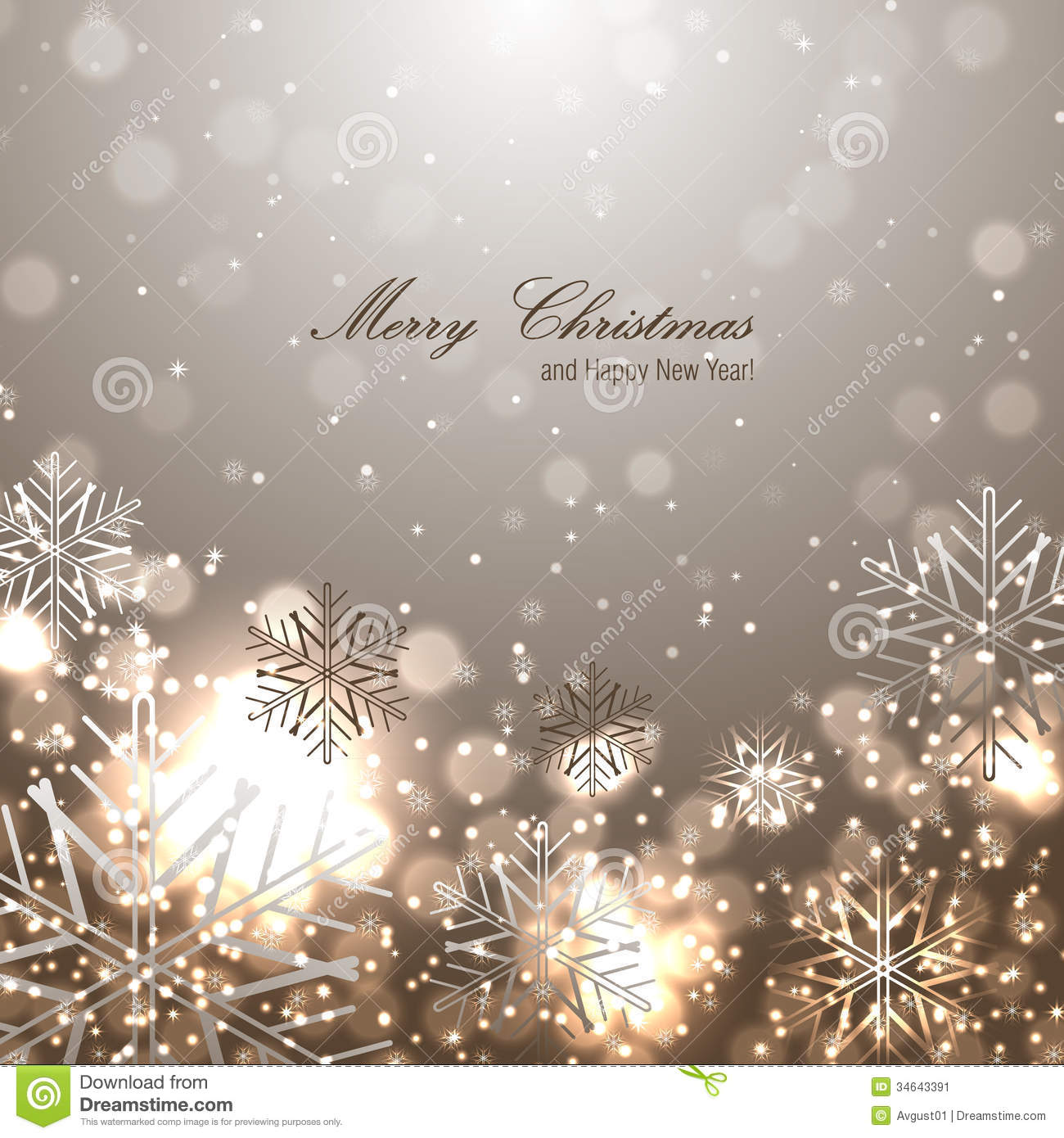 Beautiful Christmas Background.Beautiful Christmas Background With Snowflakes Stock Vector