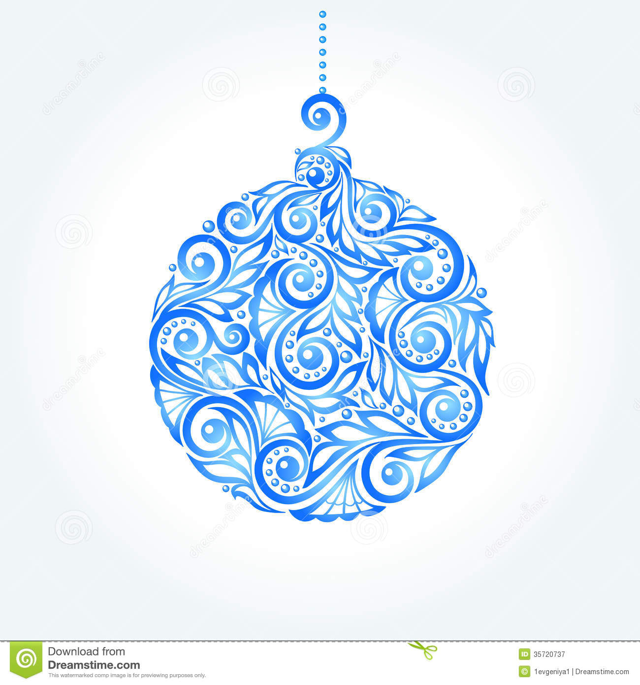 Beautiful Christmas Ball Great Design Element For Stock