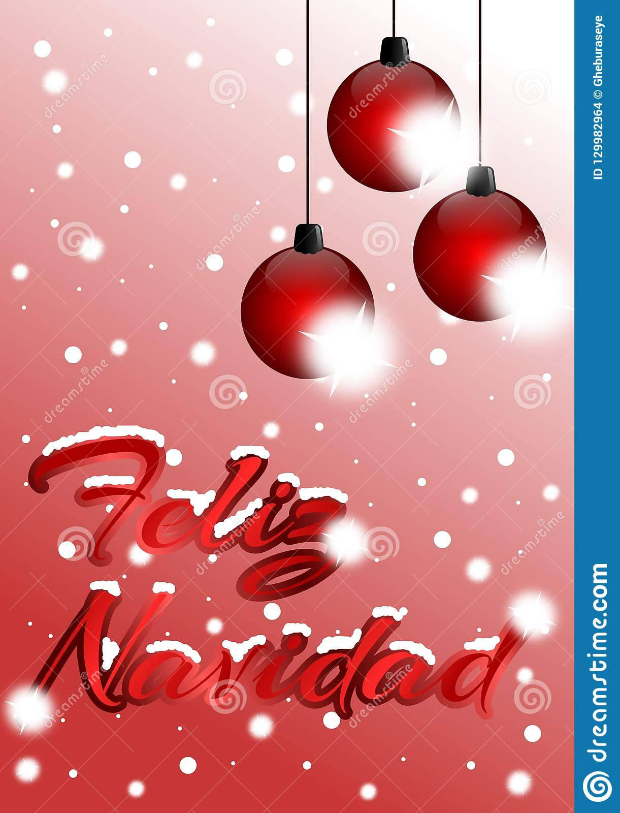 Christmas In Spanish.Christmas Greeting Cards In Spanish Stock Illustration