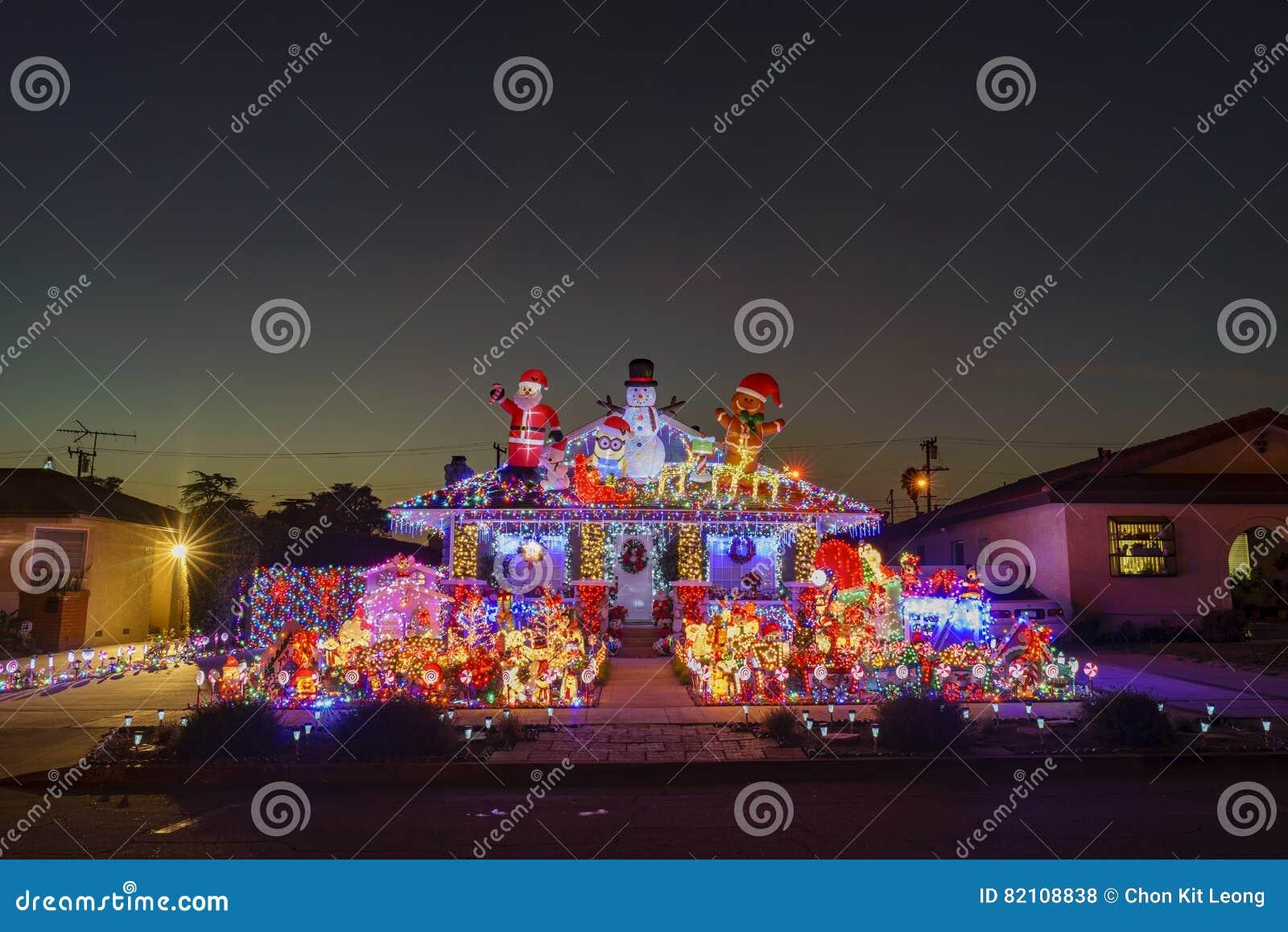 Beautiful christmas decoration editorial image for American christmas decoration