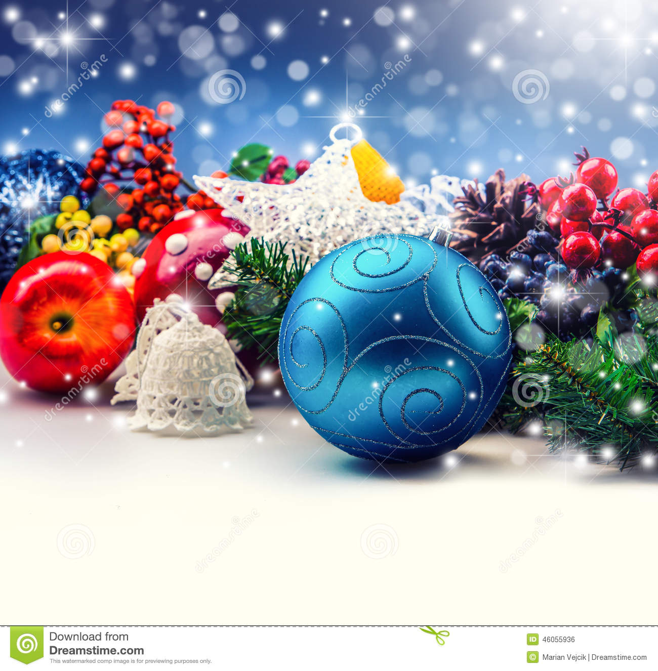 download beautiful christmas decorations border with copy space stock photo image of holiday