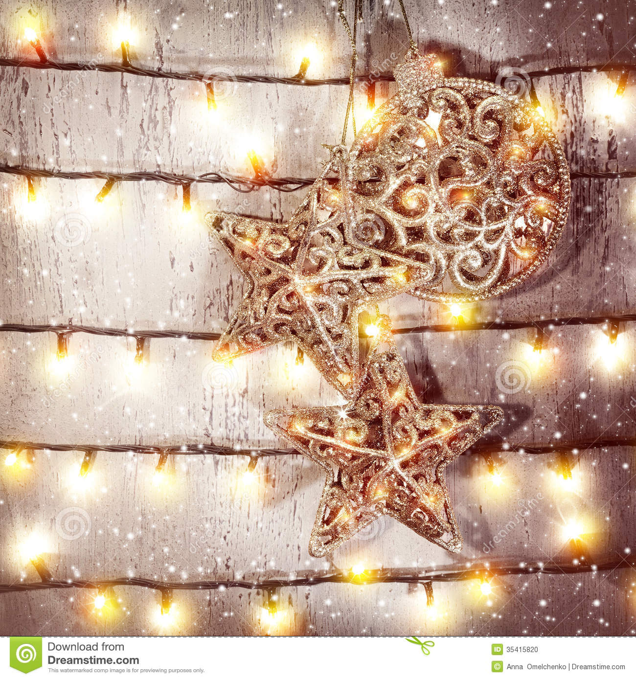 Beautiful christmas decorations stock photo image 35415820 for Hanging christmas decorations