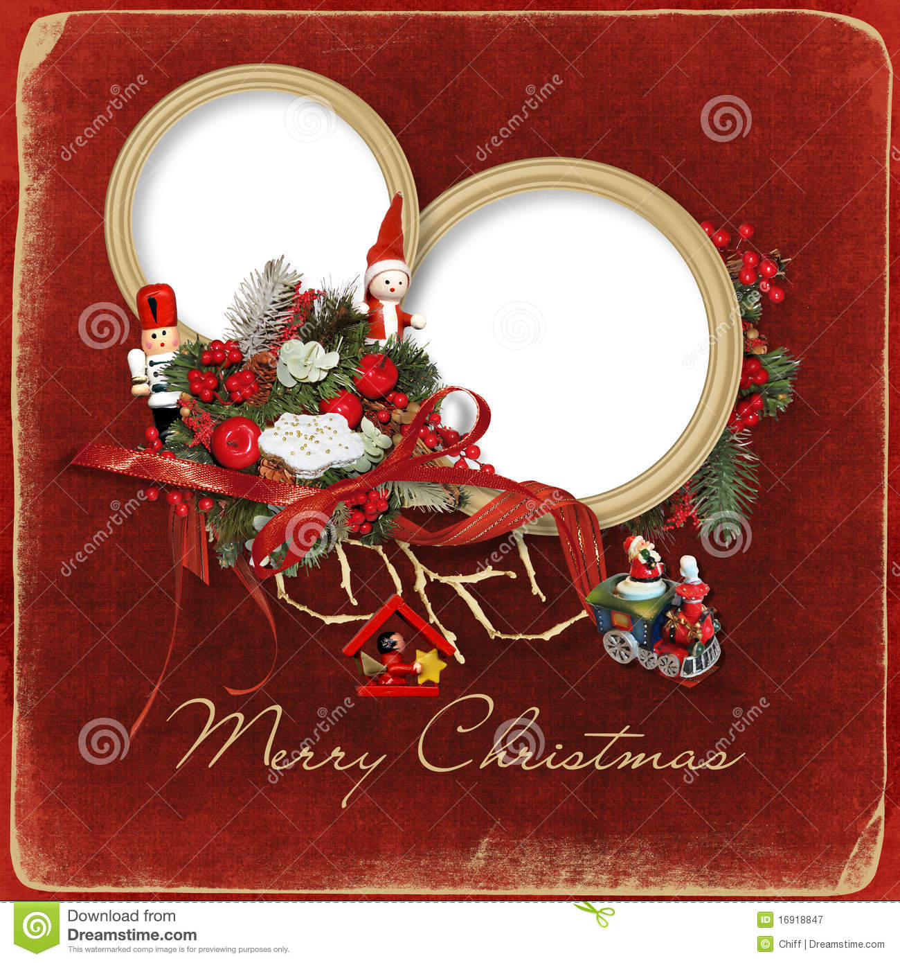 beautiful christmas frame royalty free stock photography