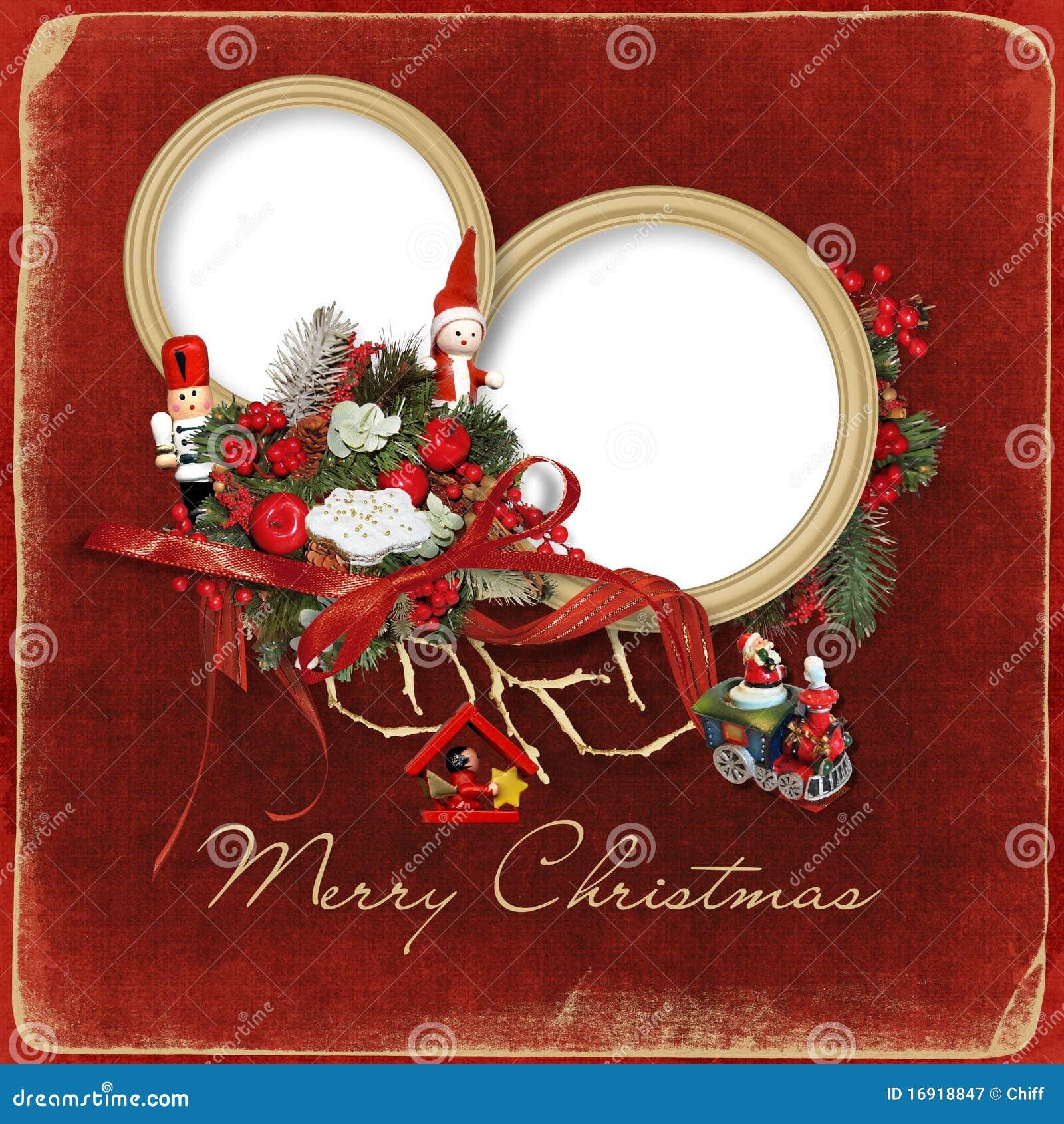Beautiful Christmas Frame Royalty Free Stock Photography