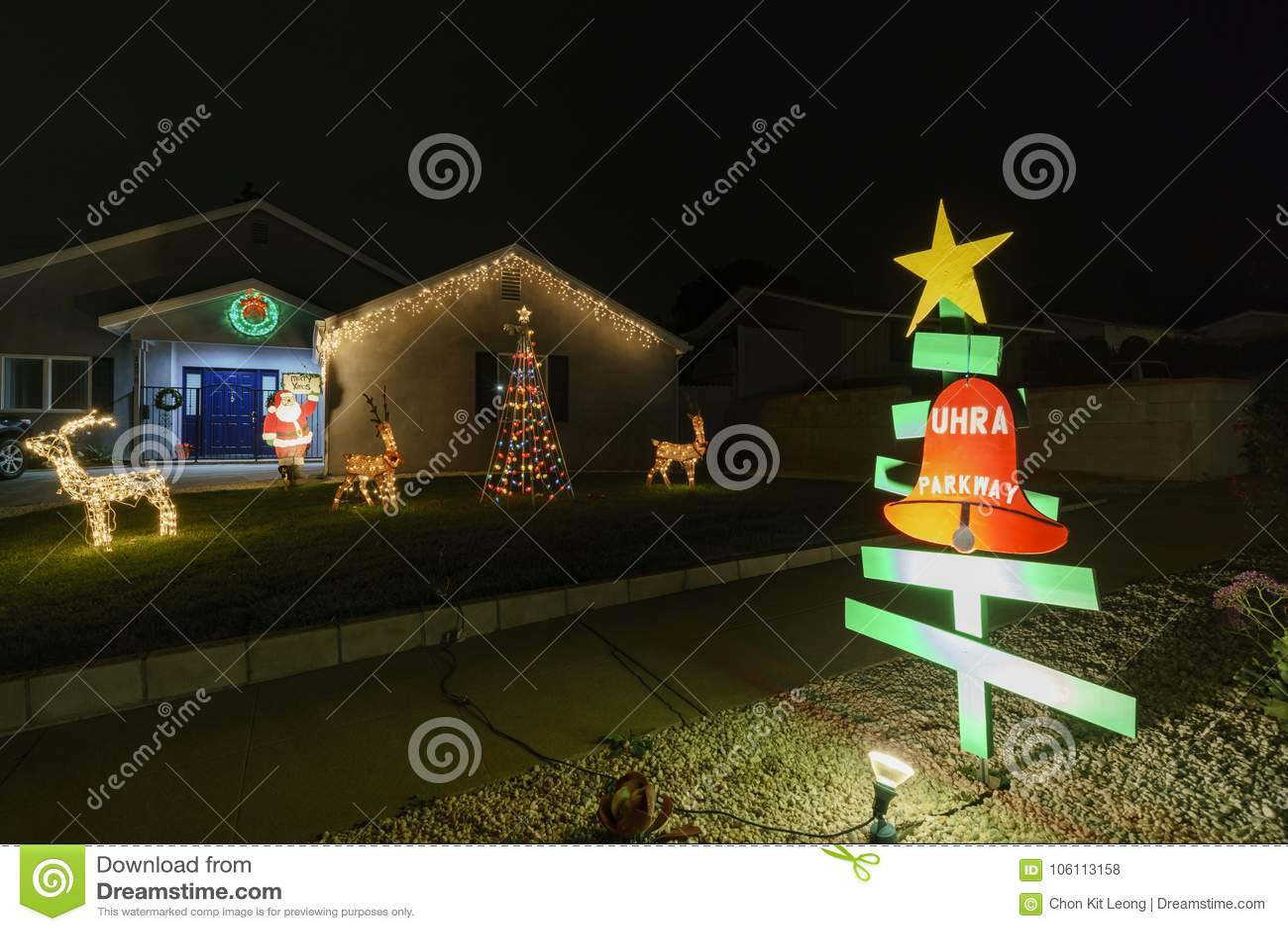 beautiful christmas lights in upper hastings ranch neighborhood