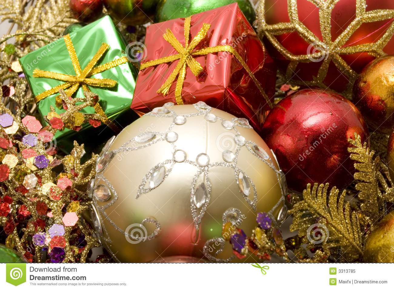 Beautiful Christmas Ornaments Royalty Free Stock Photo ...