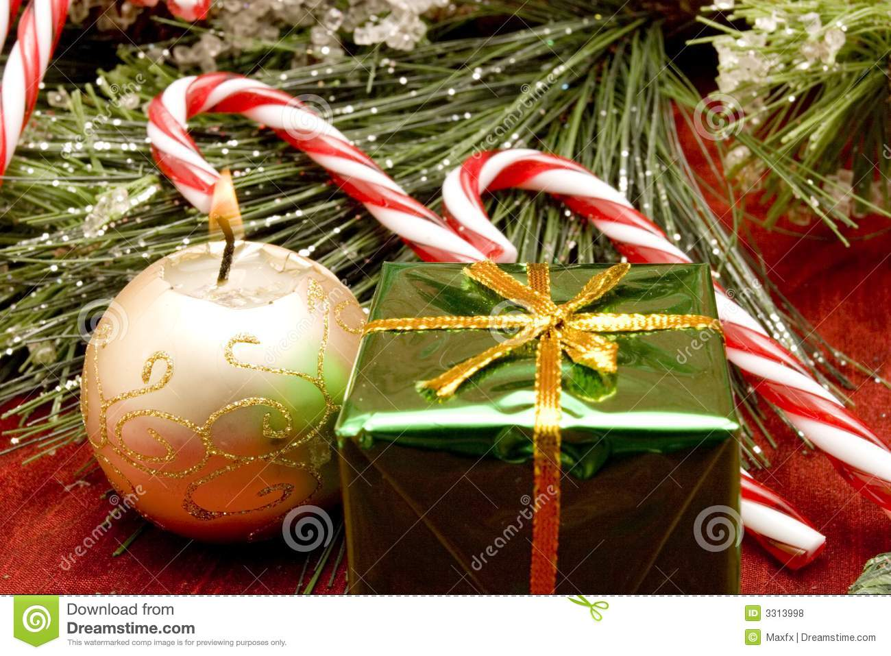 Beautiful Christmas Ornaments Stock Photo - Image: 3313998