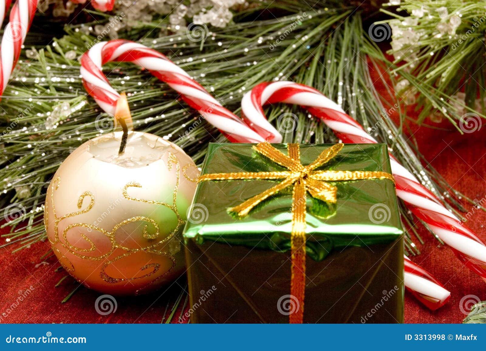 Beautiful christmas ornaments stock photo image